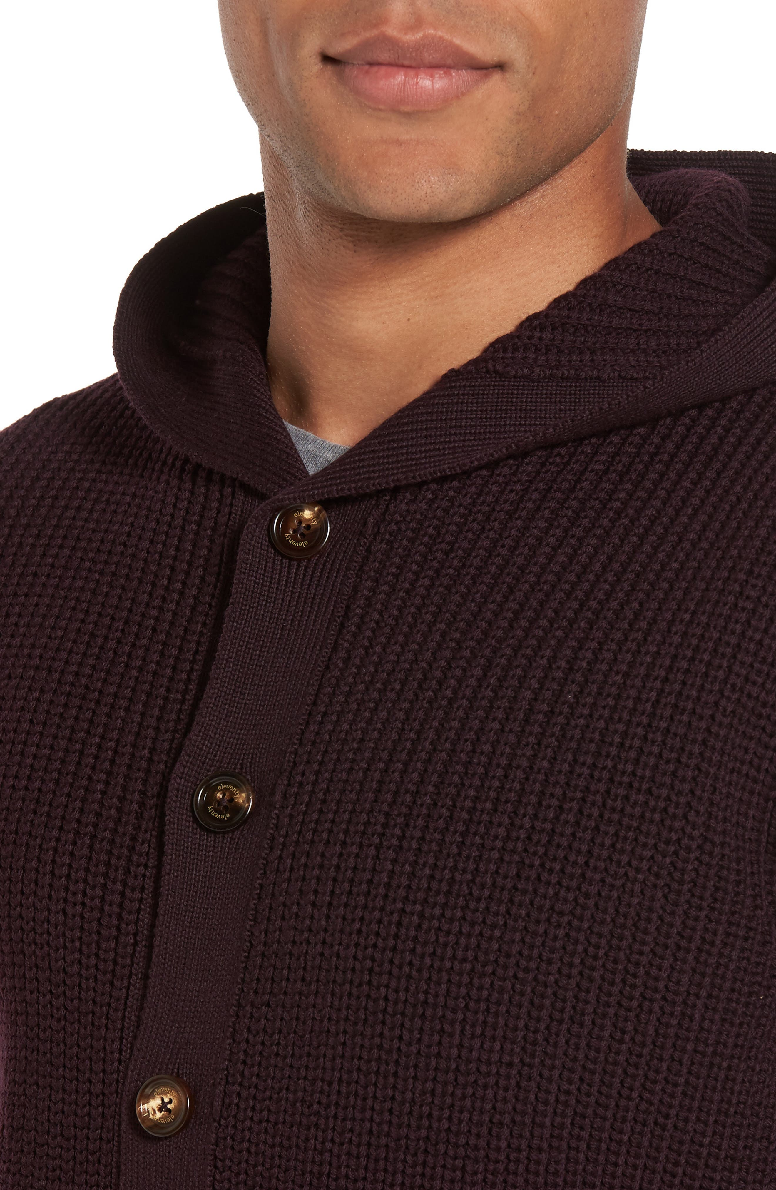 Alternate Image 4  - Eleventy Ribbed Hooded Sweater