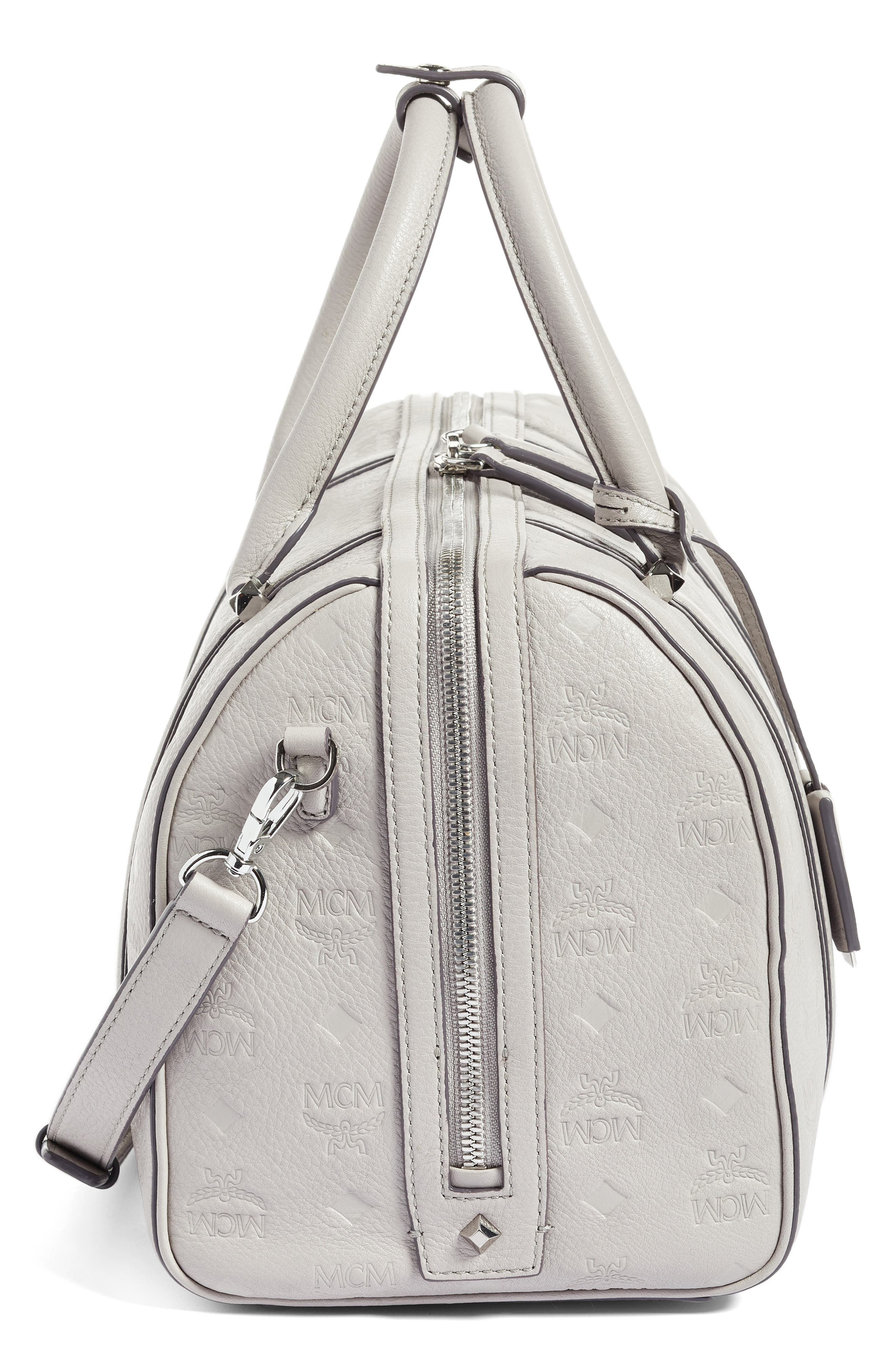 Alternate Image 4  - MCM Signature Monogram Embossed Leather Crossbody Bag
