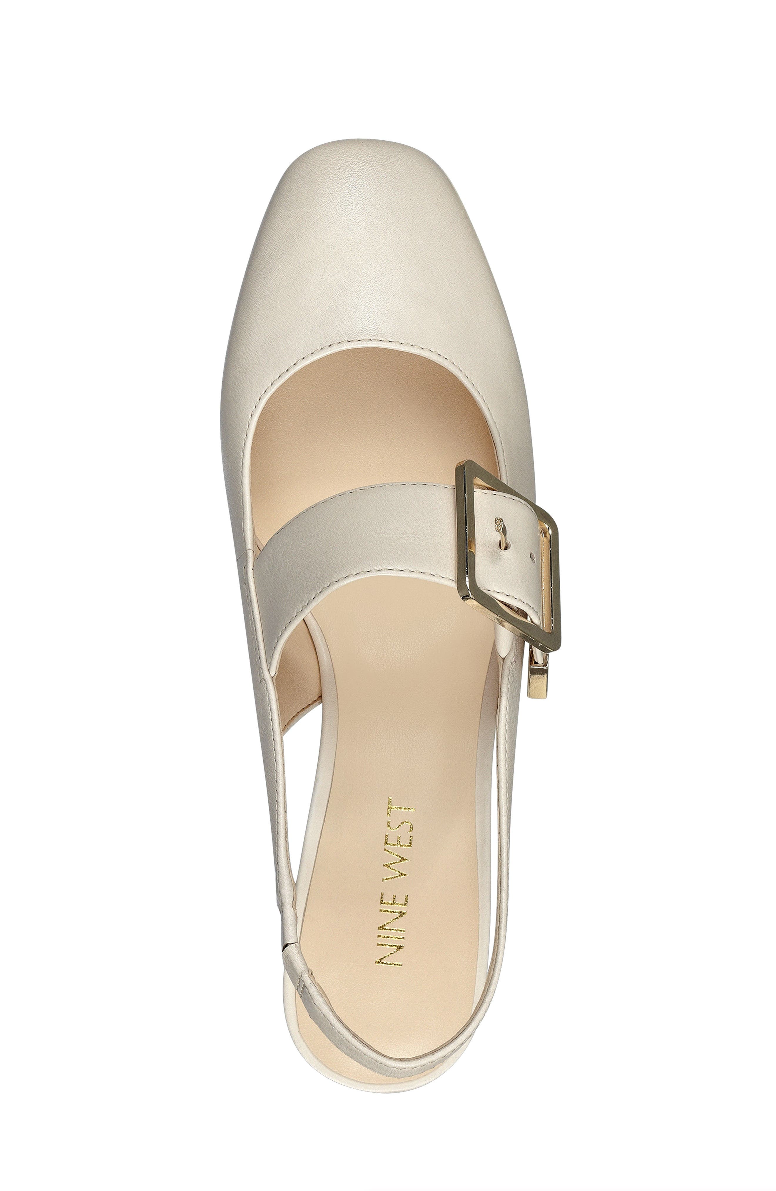 Wendor Slingback Pump,                             Alternate thumbnail 5, color,                             Off White Leather