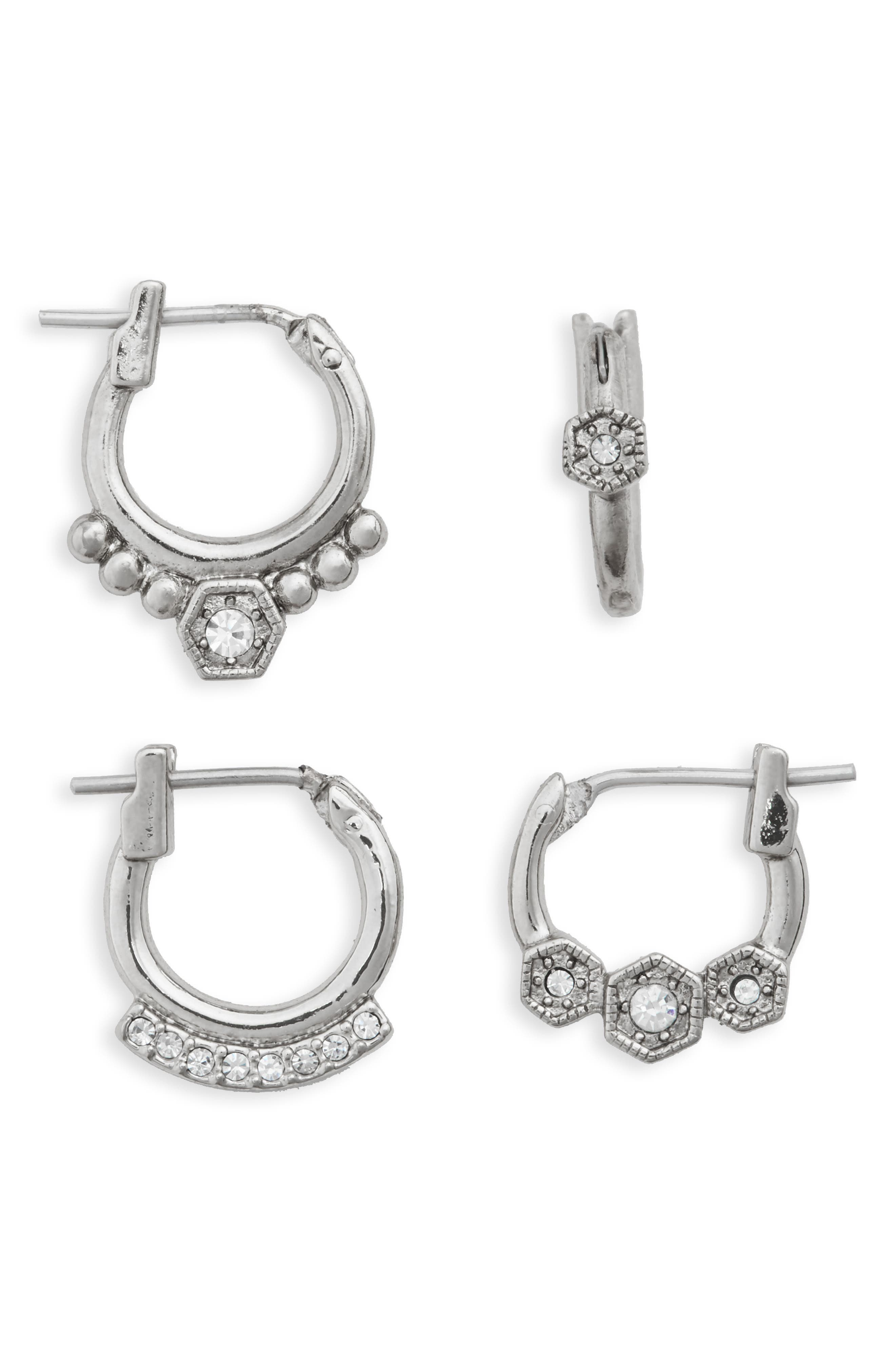 LUV AJ Full Bloom Set of 4 Hoop Earrings