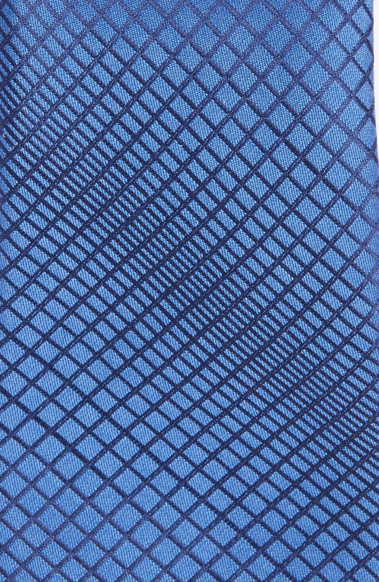 Jordyn Geometric Cotton & Silk Tie,                             Alternate thumbnail 2, color,                             Blue