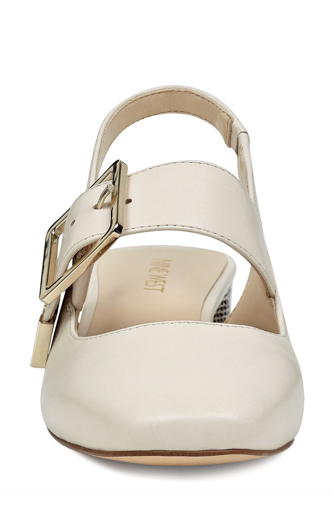 Wendor Slingback Pump,                             Alternate thumbnail 4, color,                             Off White Leather