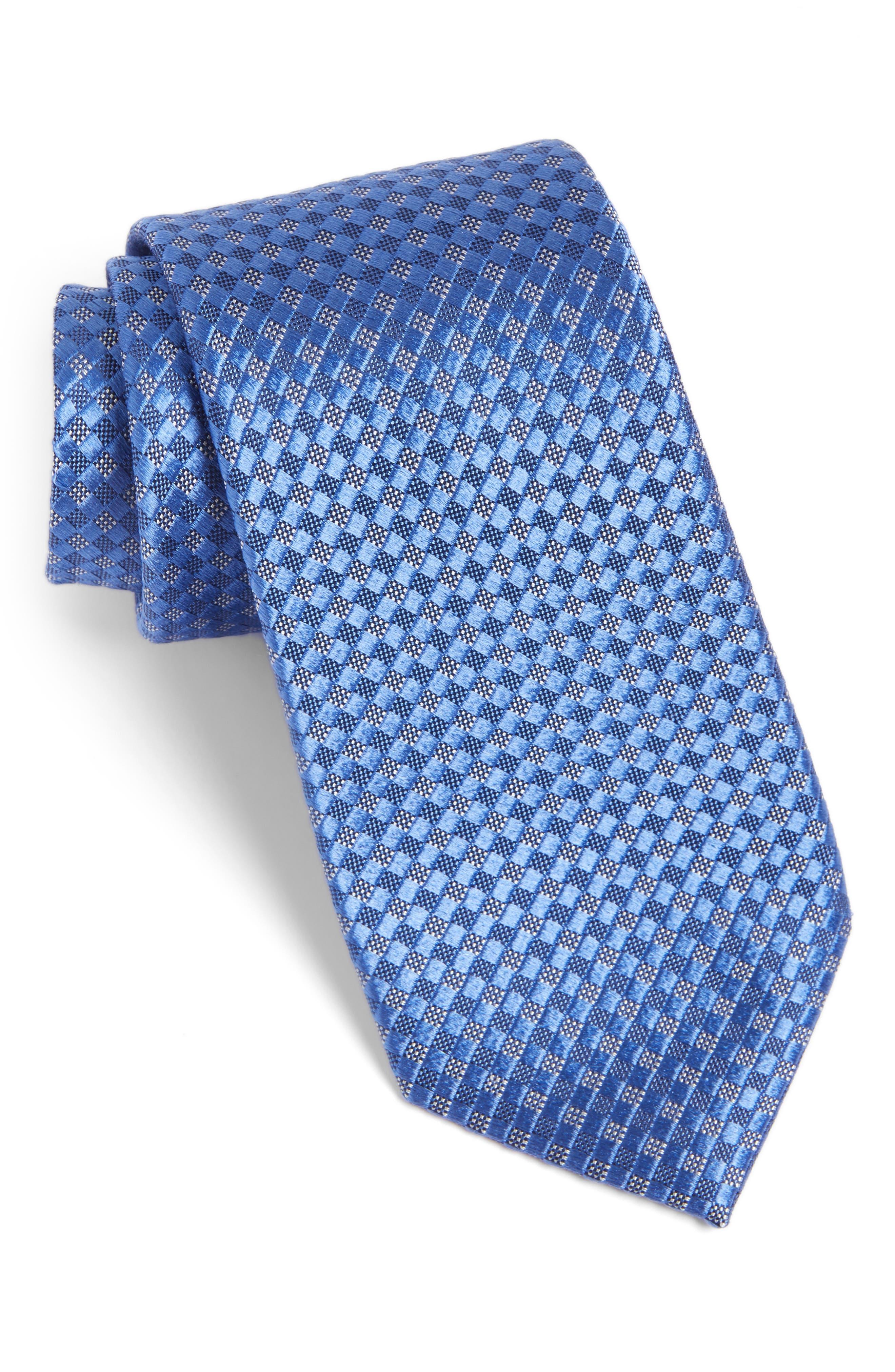 Artesia Check Silk Tie,                         Main,                         color, Blue
