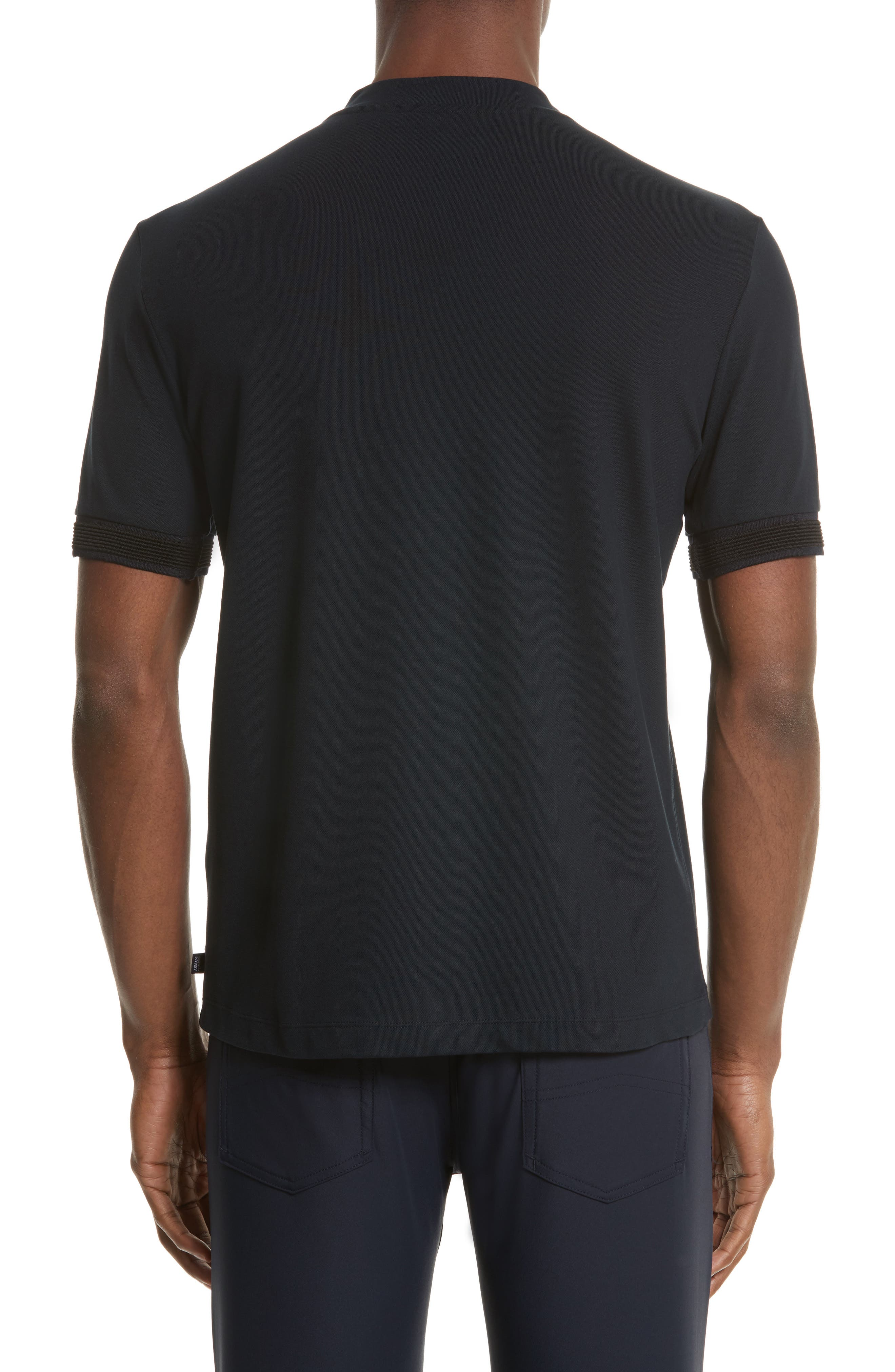 Alternate Image 2  - Armani Collezioni Ribbed V-Neck T-Shirt