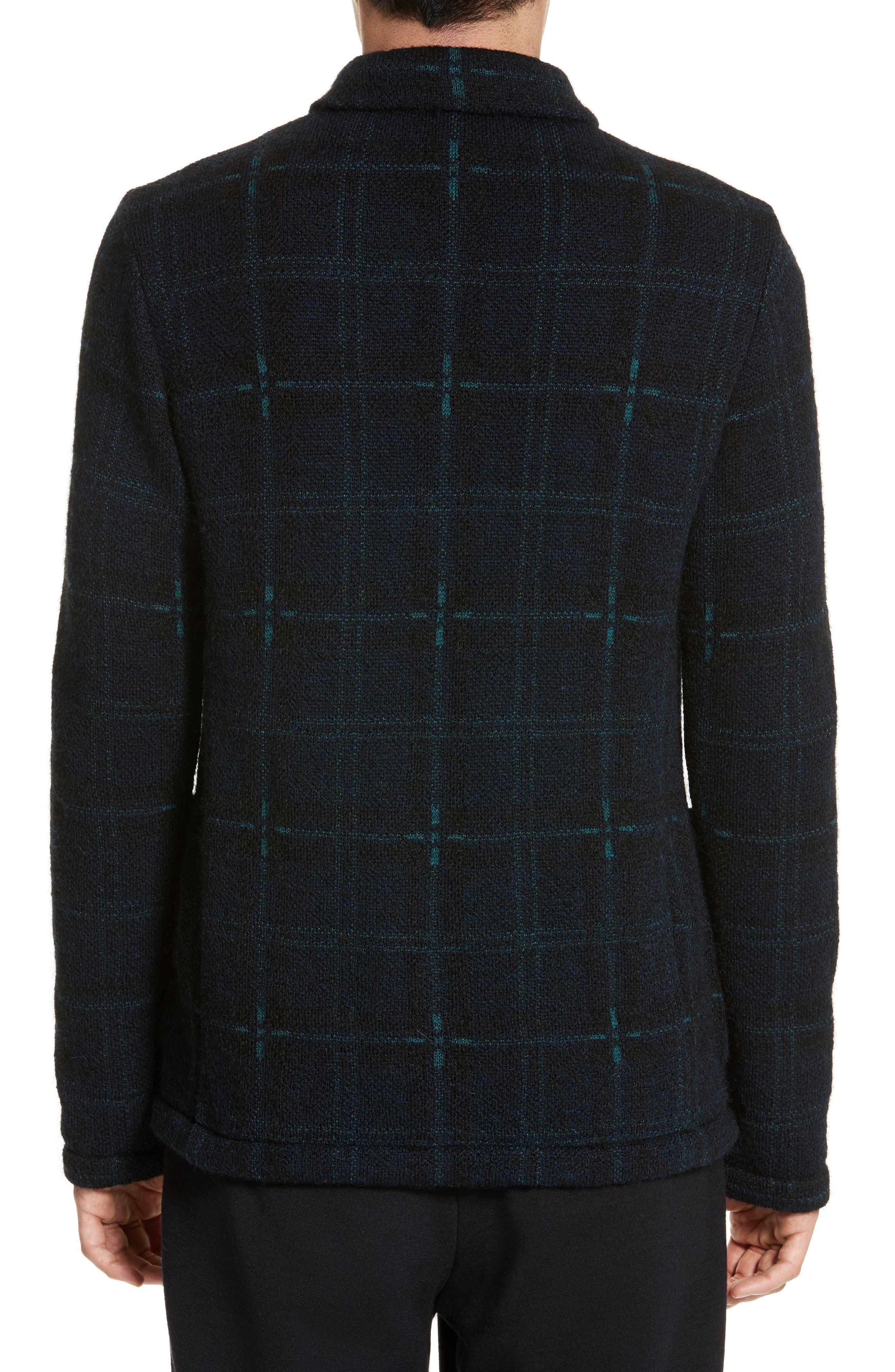 Alternate Image 2  - Tomorrowland Wool Blend Knit Sportcoat