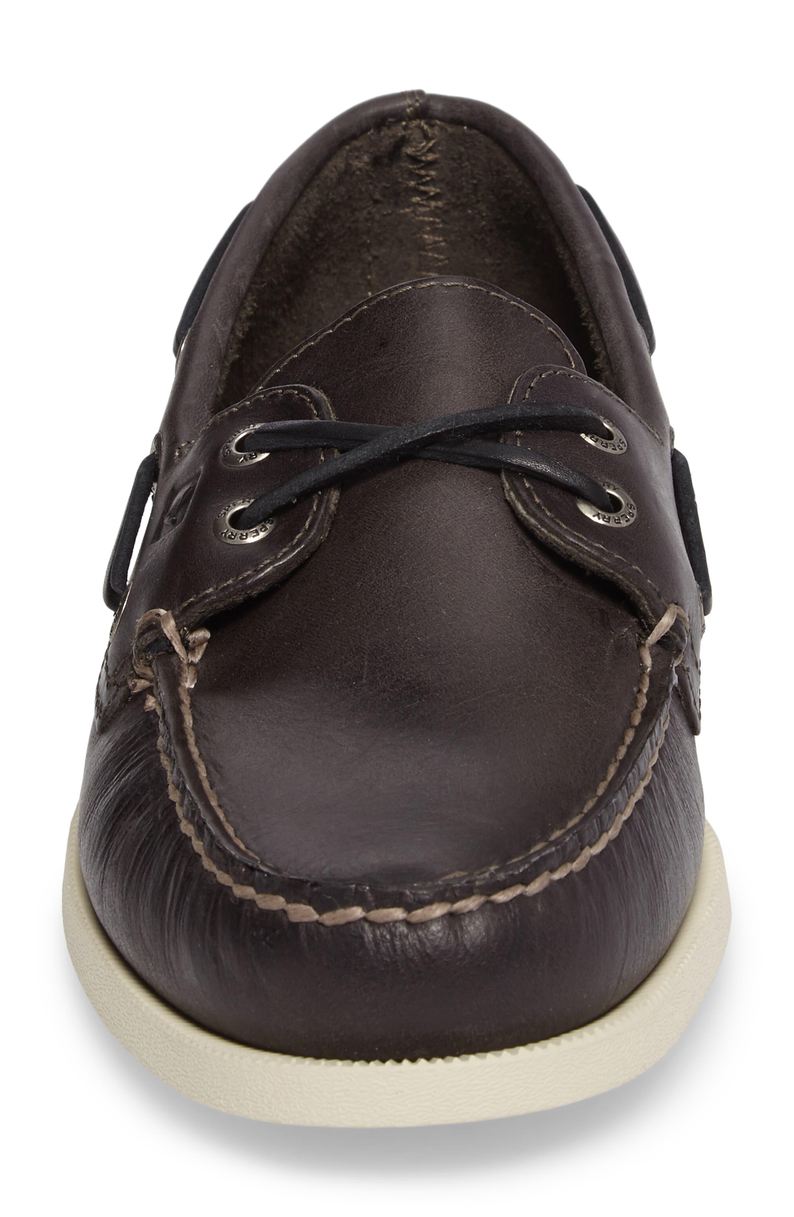 Authentic Original Boat Shoe,                             Alternate thumbnail 4, color,                             Charcoal