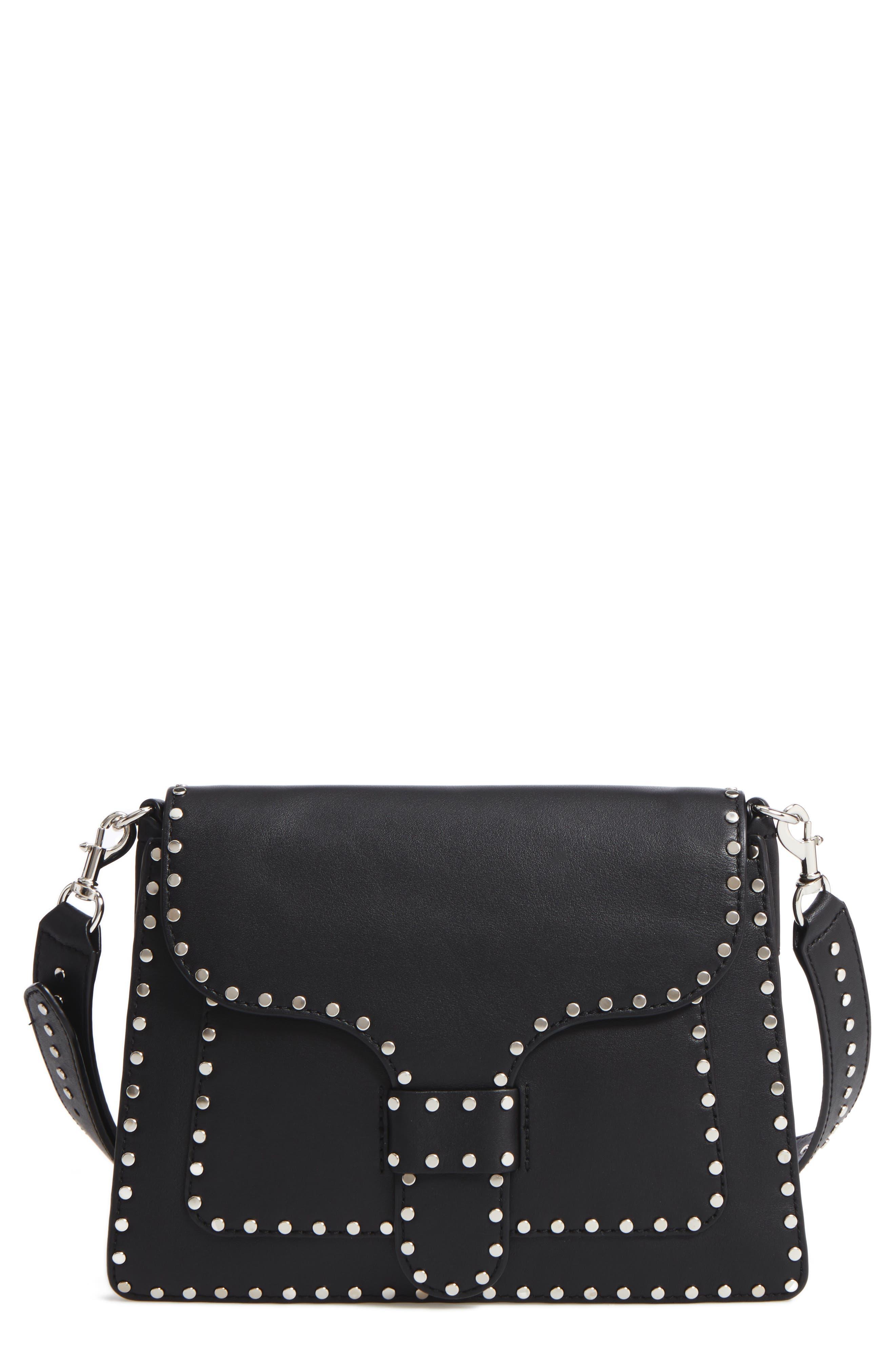 REBECCA MINKOFF Slim Midnighter Leather Crossbody Bag
