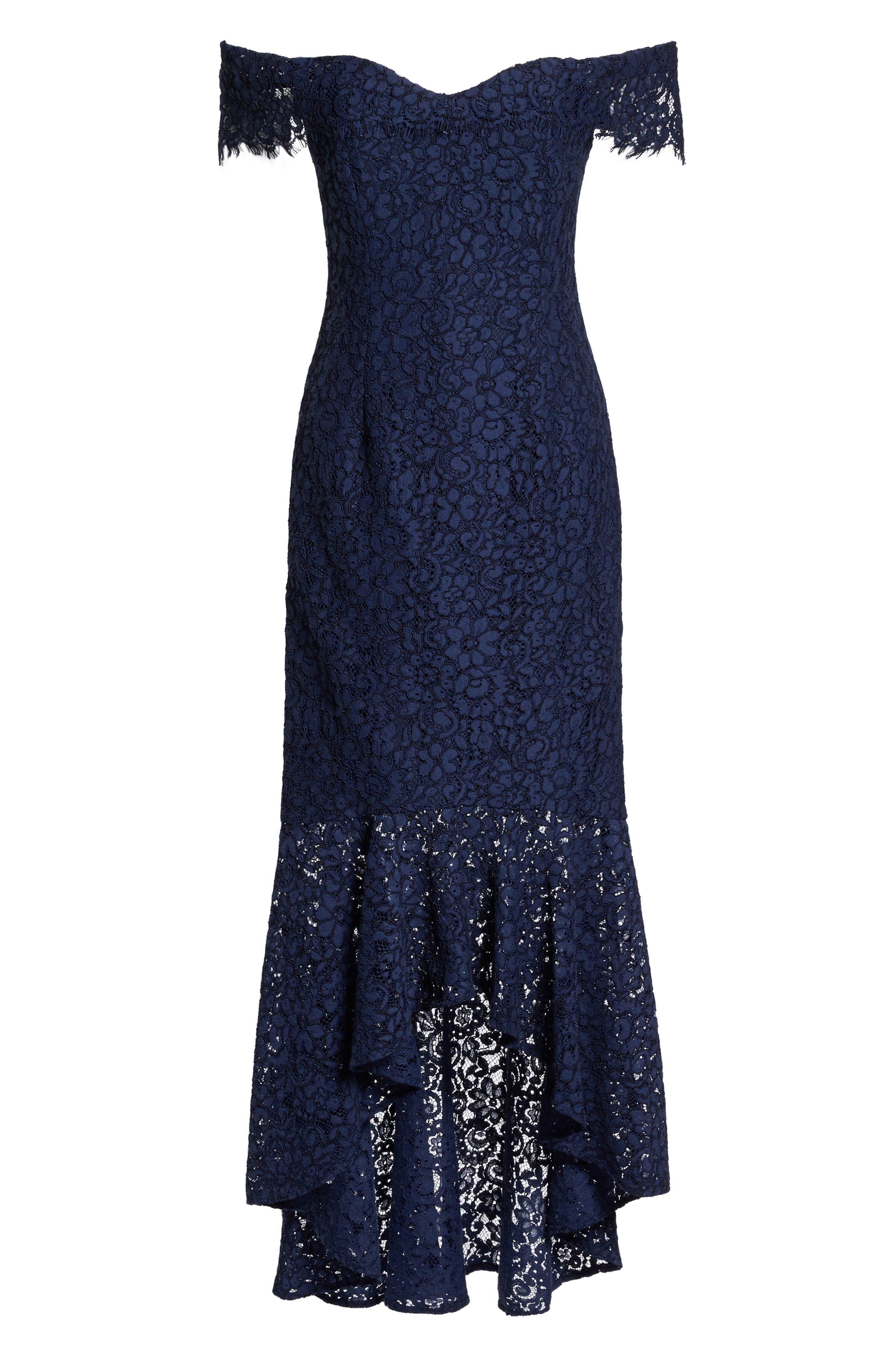 Alternate Image 6  - Shoshanna Vanowen Lace Off the Shoulder Gown