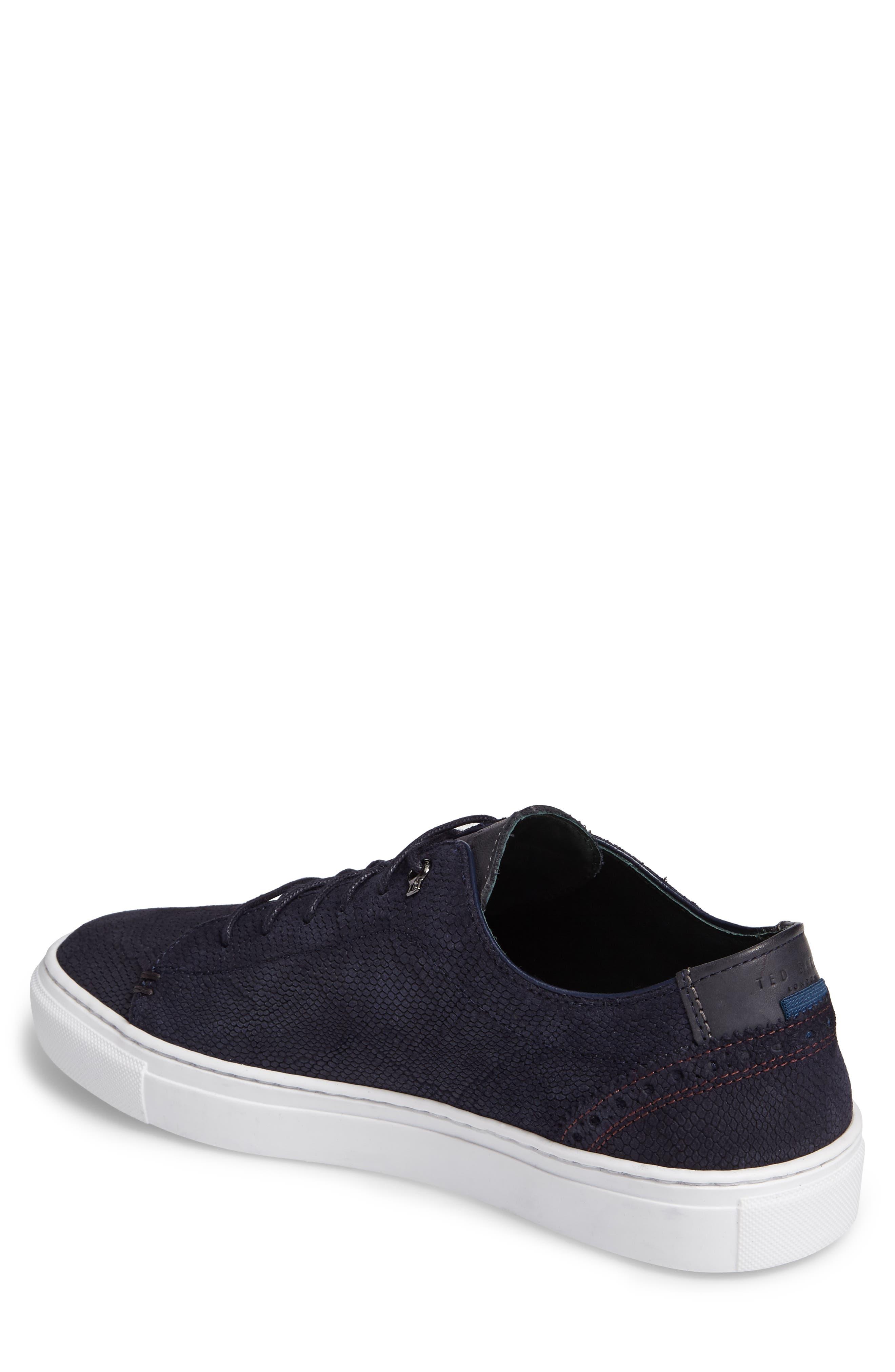 Duuke Sneaker,                             Alternate thumbnail 2, color,                             Dark Blue Suede