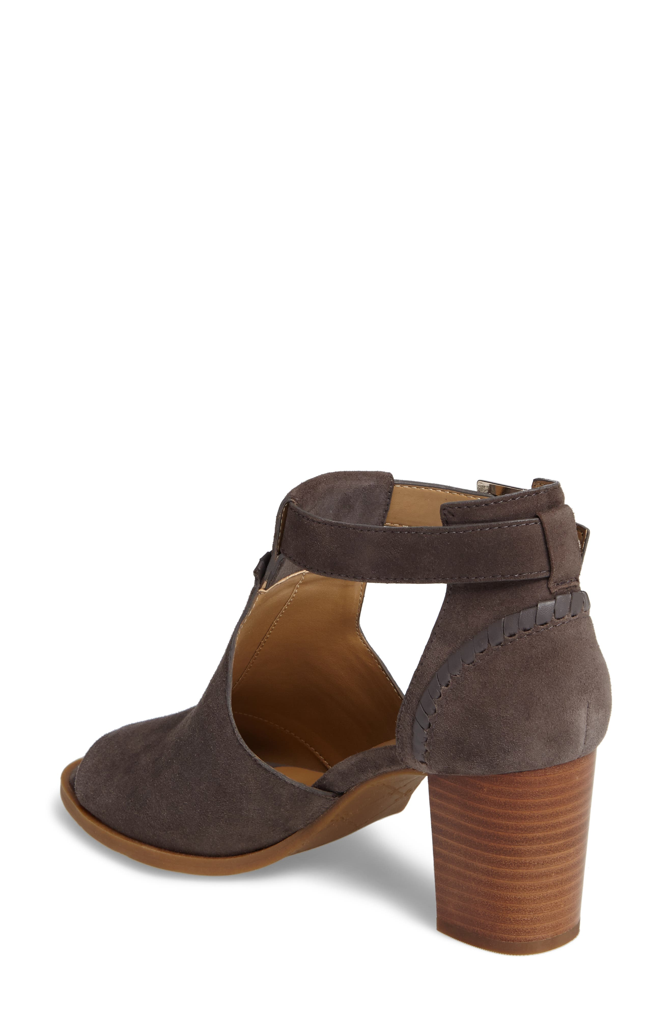 Cameron Block Heel Sandal,                             Alternate thumbnail 2, color,                             Charcoal Suede