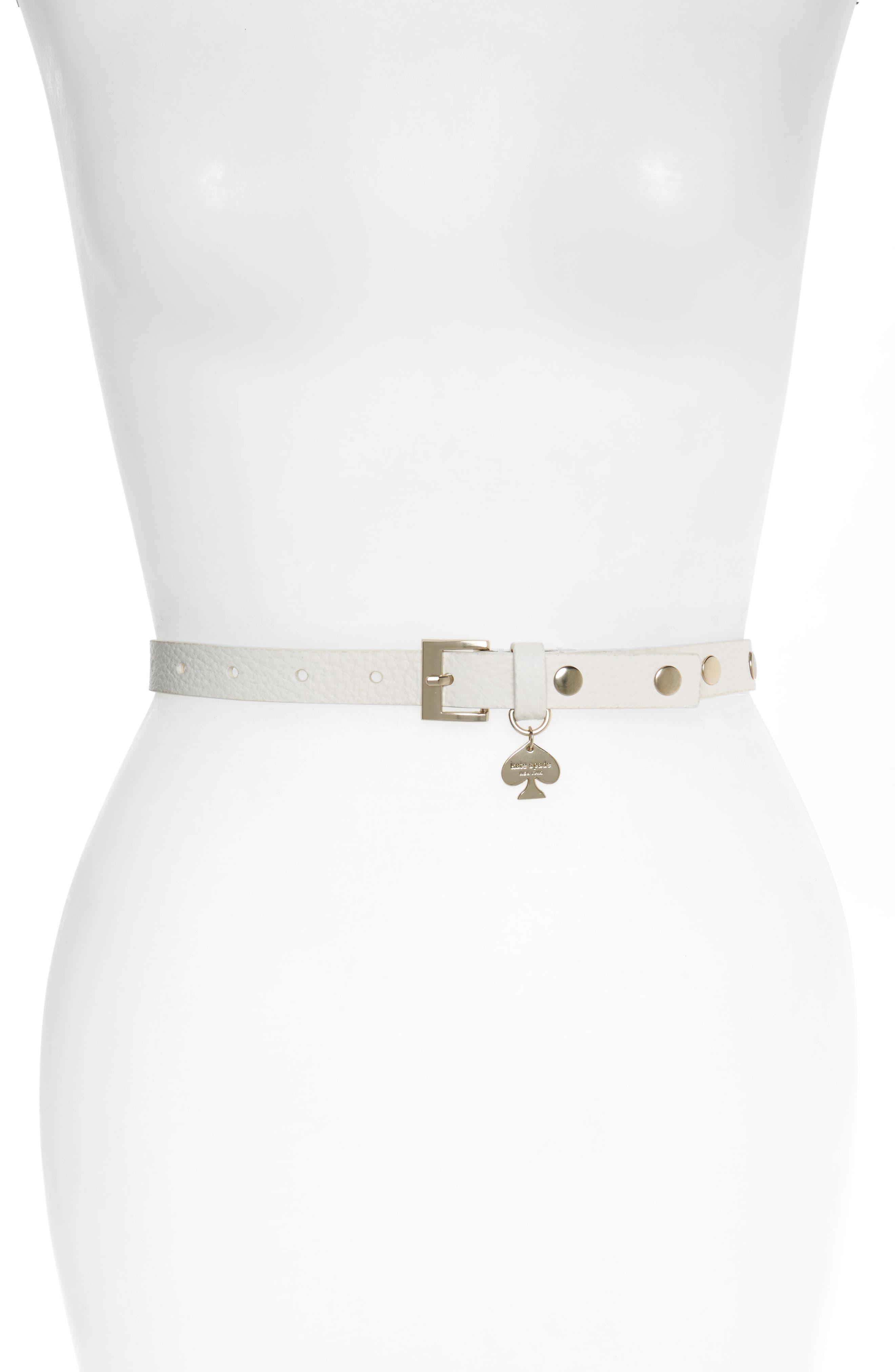 kate spade new york studded leather belt
