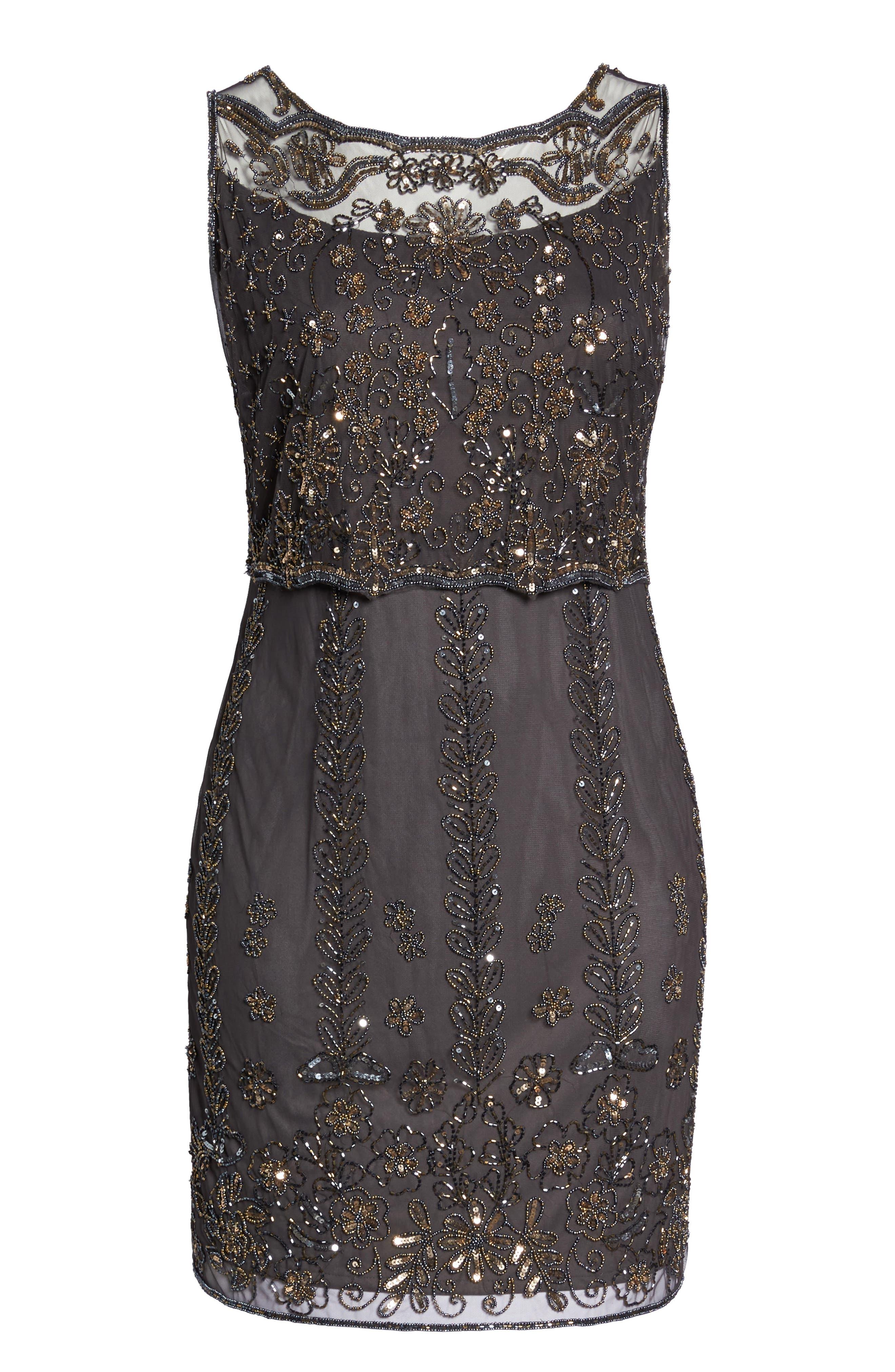 Alternate Image 6  - Pisarro Nights Embellished Popover Bodice Sheath Dress (Plus Size)