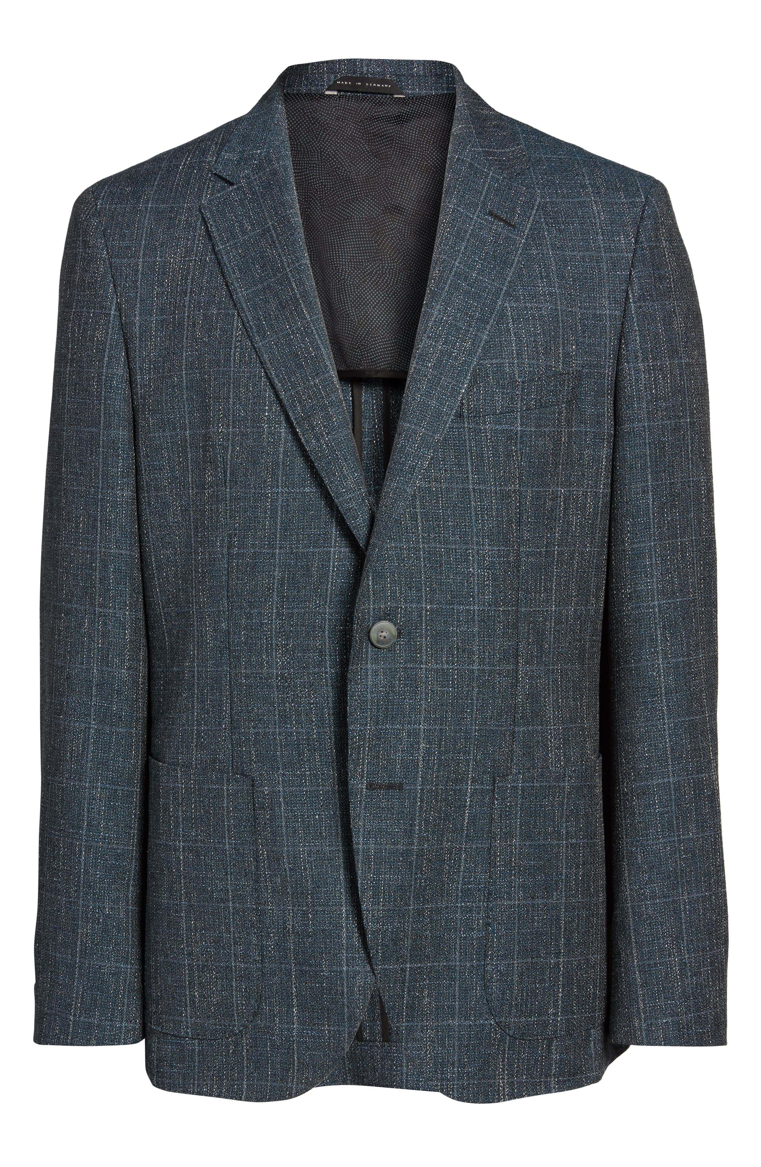 Alternate Image 6  - BOSS Janson Trim Fit Windowpane Wool Blend Sport Coat