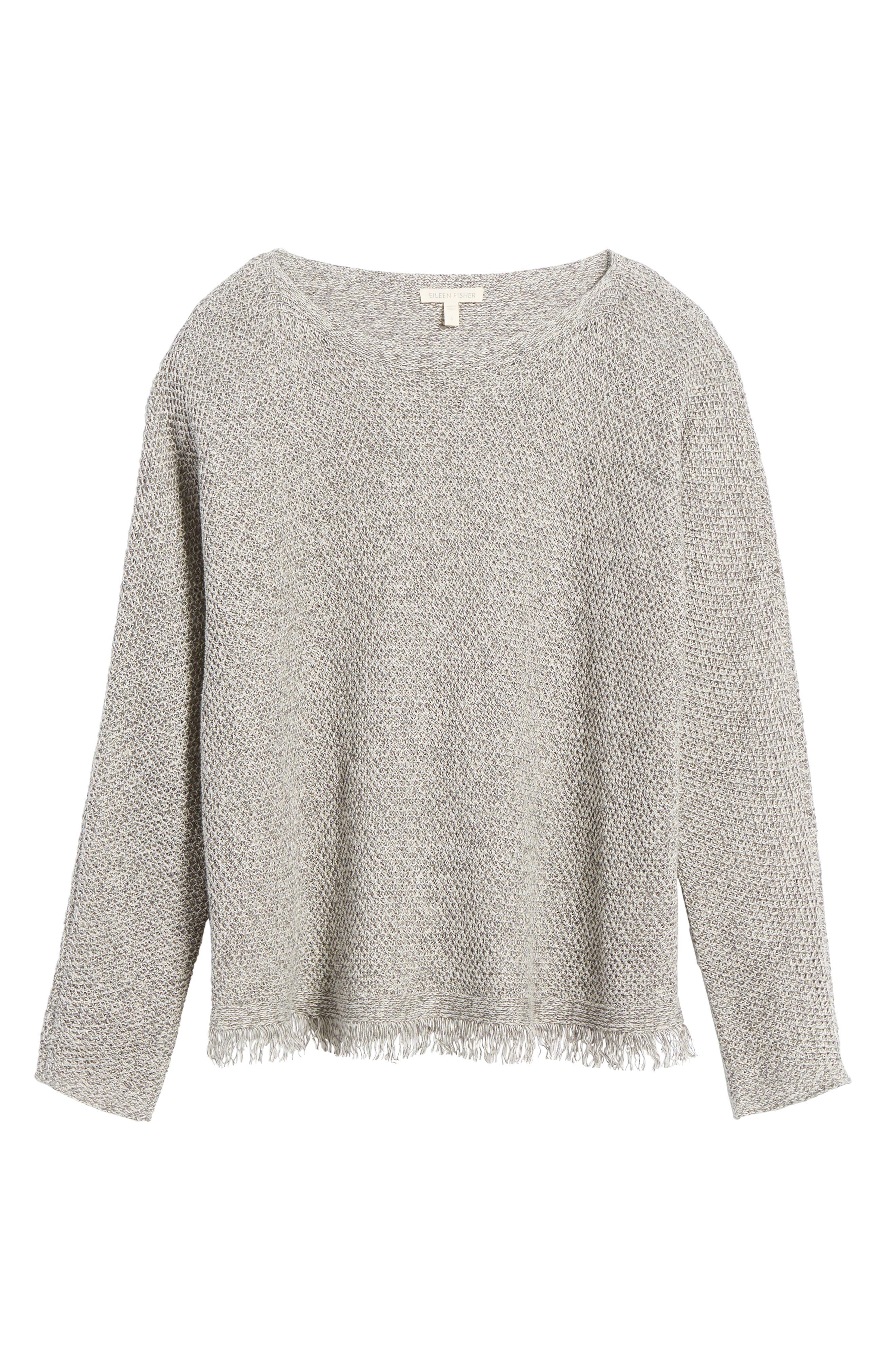 Alternate Image 6  - Eileen Fisher Organic Linen Pullover (Regular & Petite)