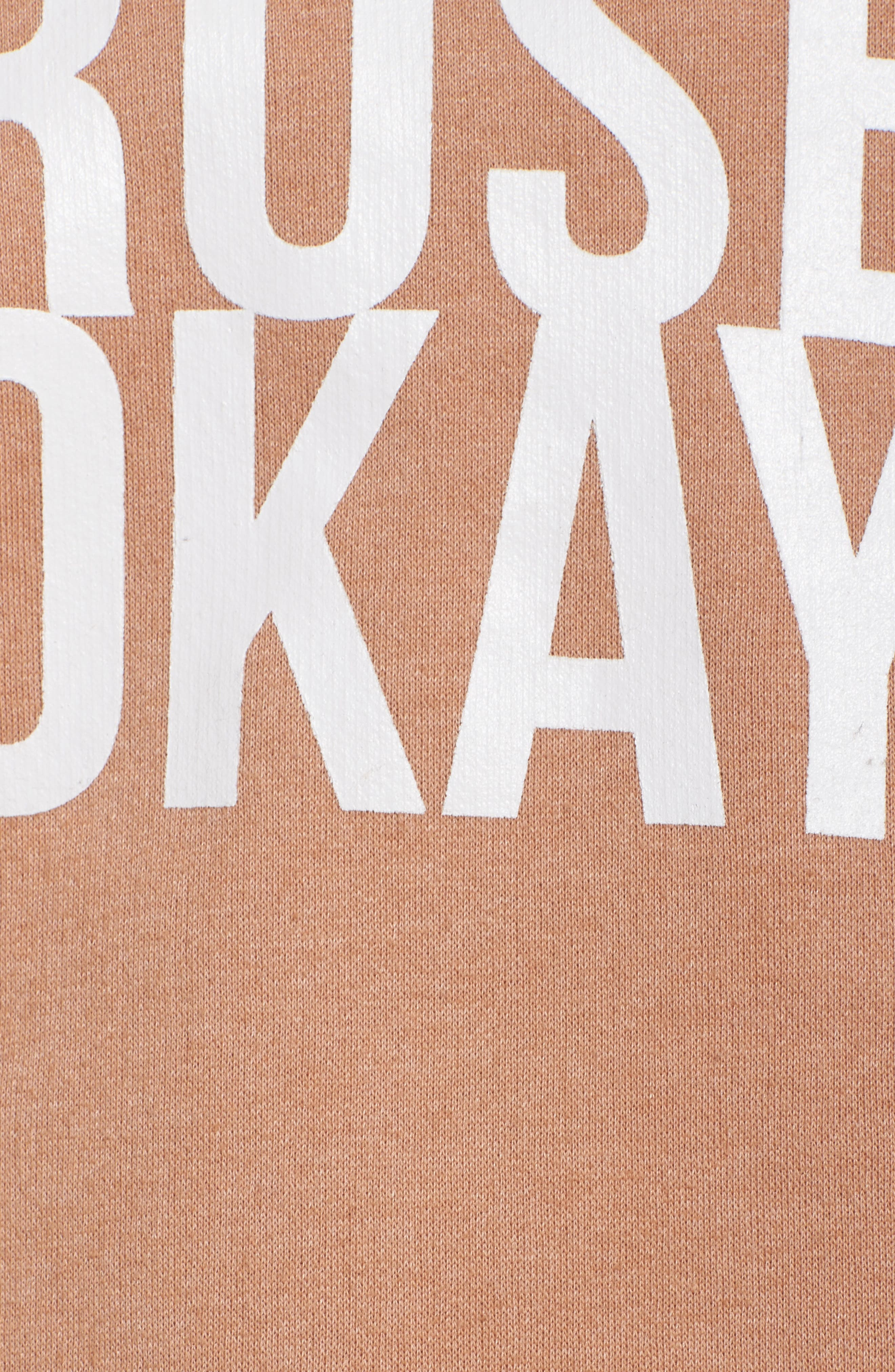 Rosé Okay Sweatshirt,                             Alternate thumbnail 5, color,                             Beige