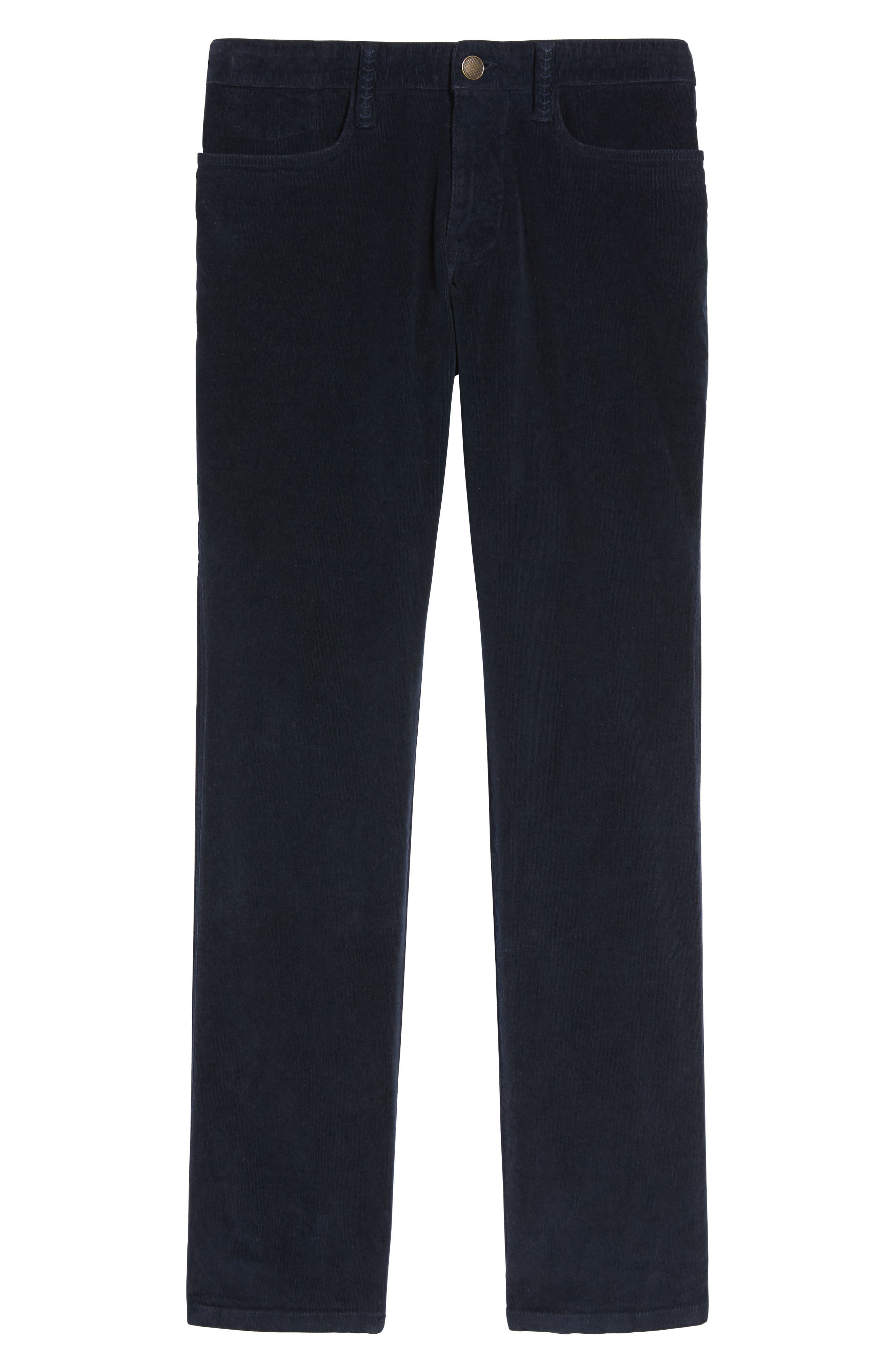 Modern Fit Stretch Corduroy Pants,                             Alternate thumbnail 6, color,                             Marine