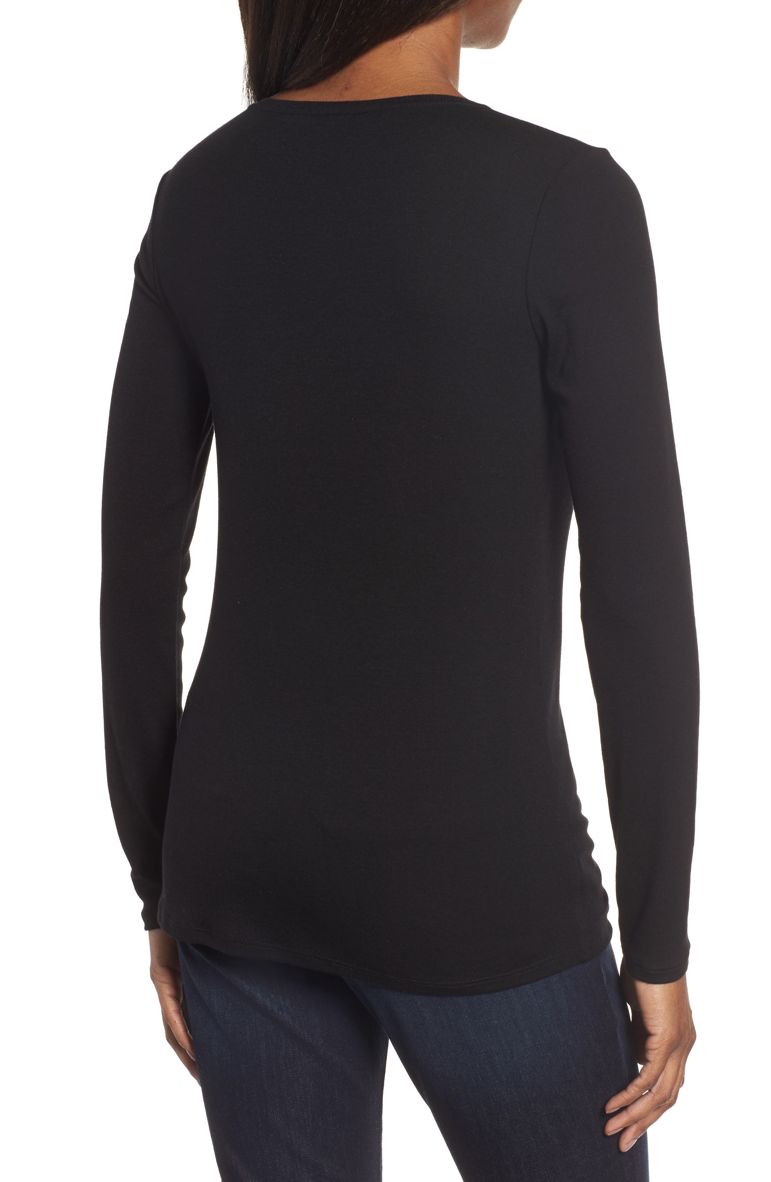 Alternate Image 2  - Eileen Fisher Slim Crewneck Tee