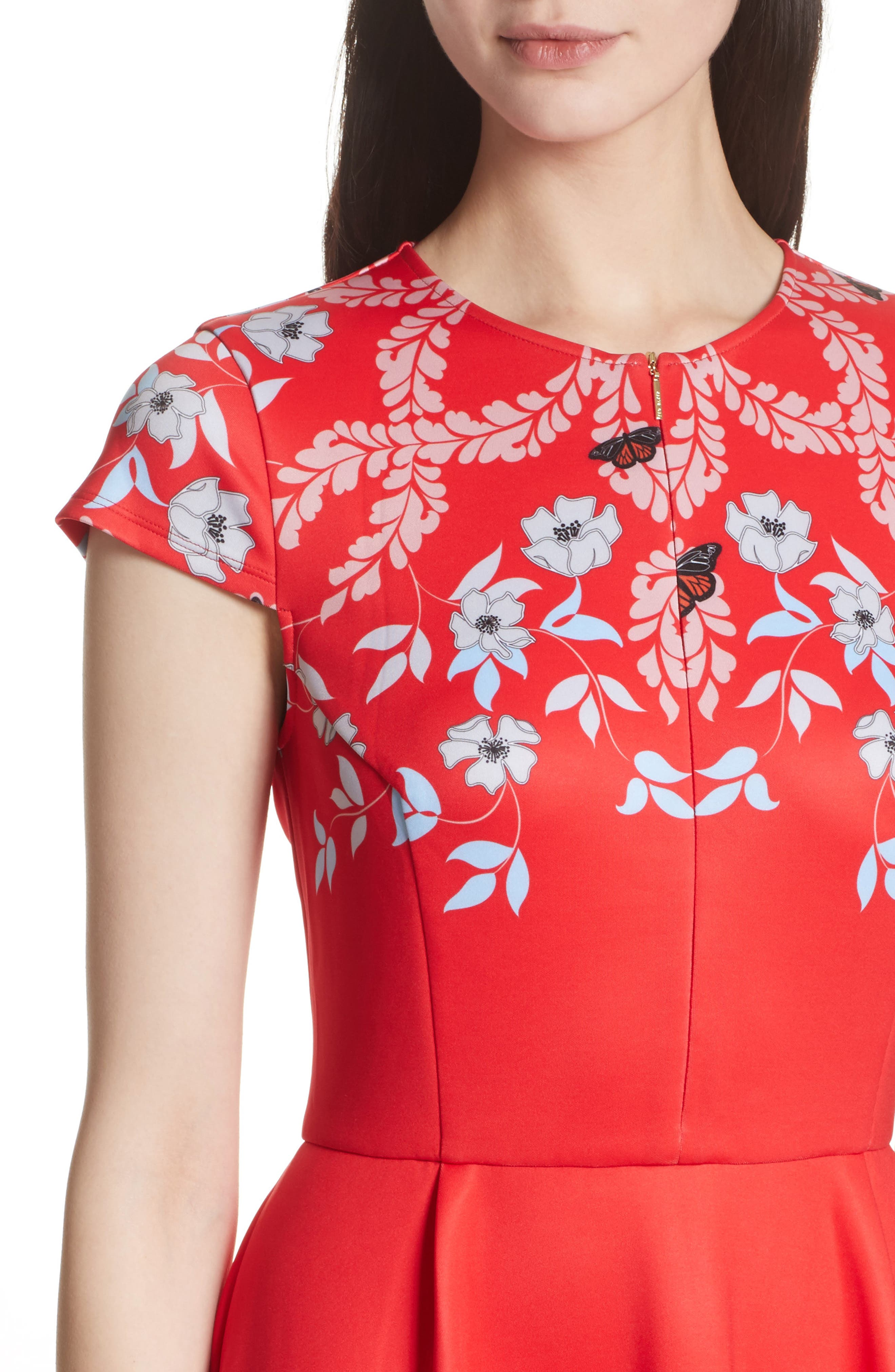 Alternate Image 5  - Ted Baker London Saydi Kyoto Skater Dress