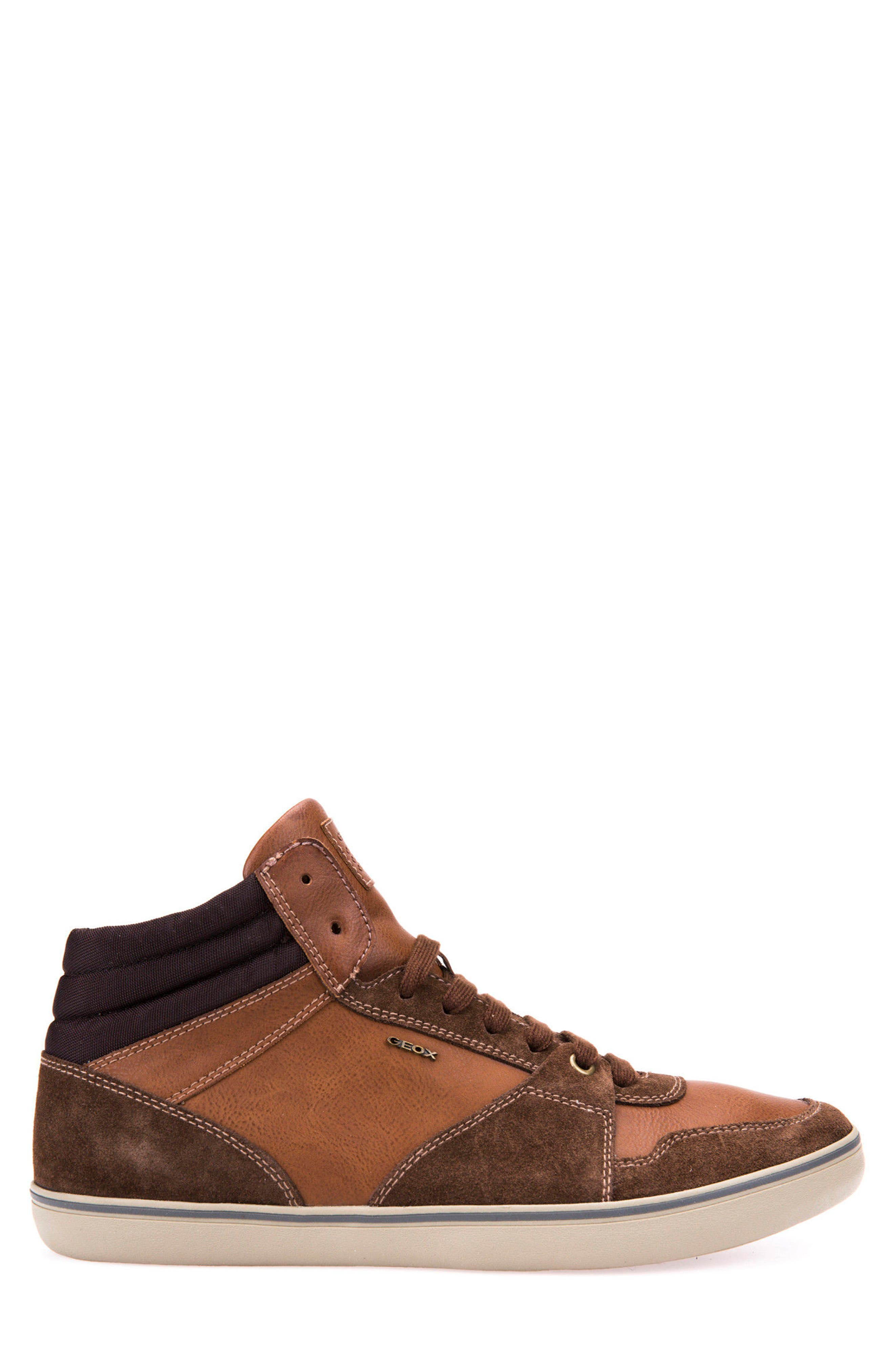 Box 30 High Top Sneaker,                             Alternate thumbnail 4, color,                             Ebony/ Brown Cotto