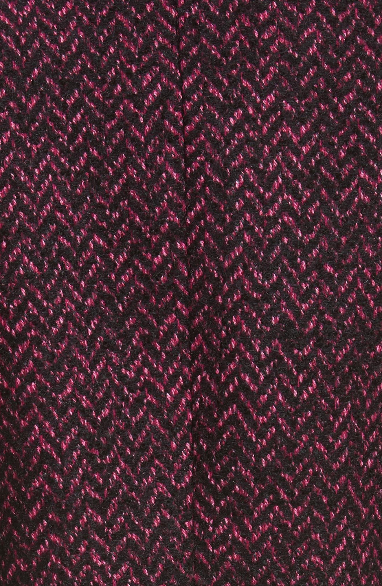 Herringbone Wool Blend Jacket,                             Alternate thumbnail 5, color,                             Magnolia/ Black