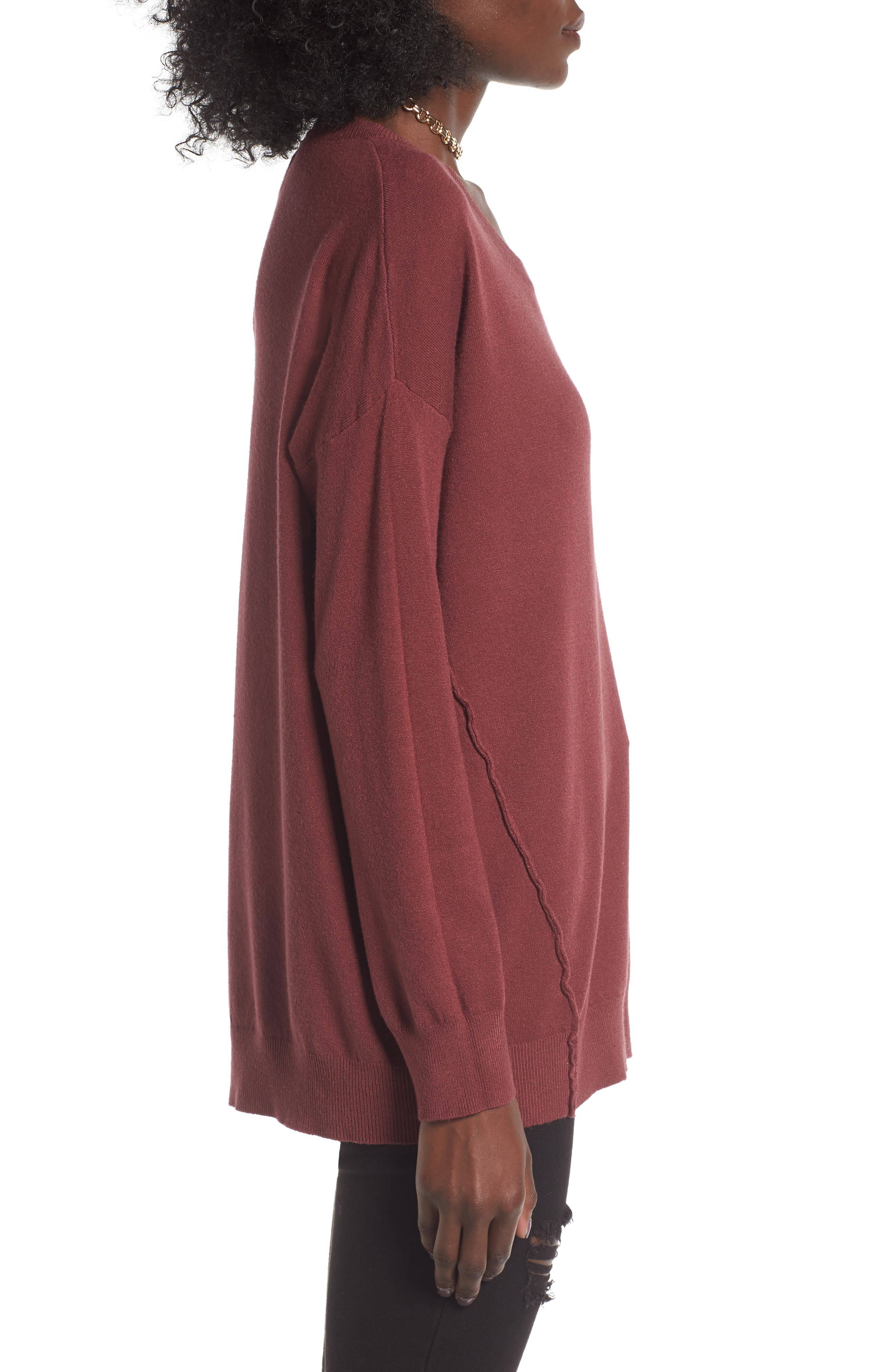 Alternate Image 3  - Dreamers by Debut Forward Seam Tunic Sweater