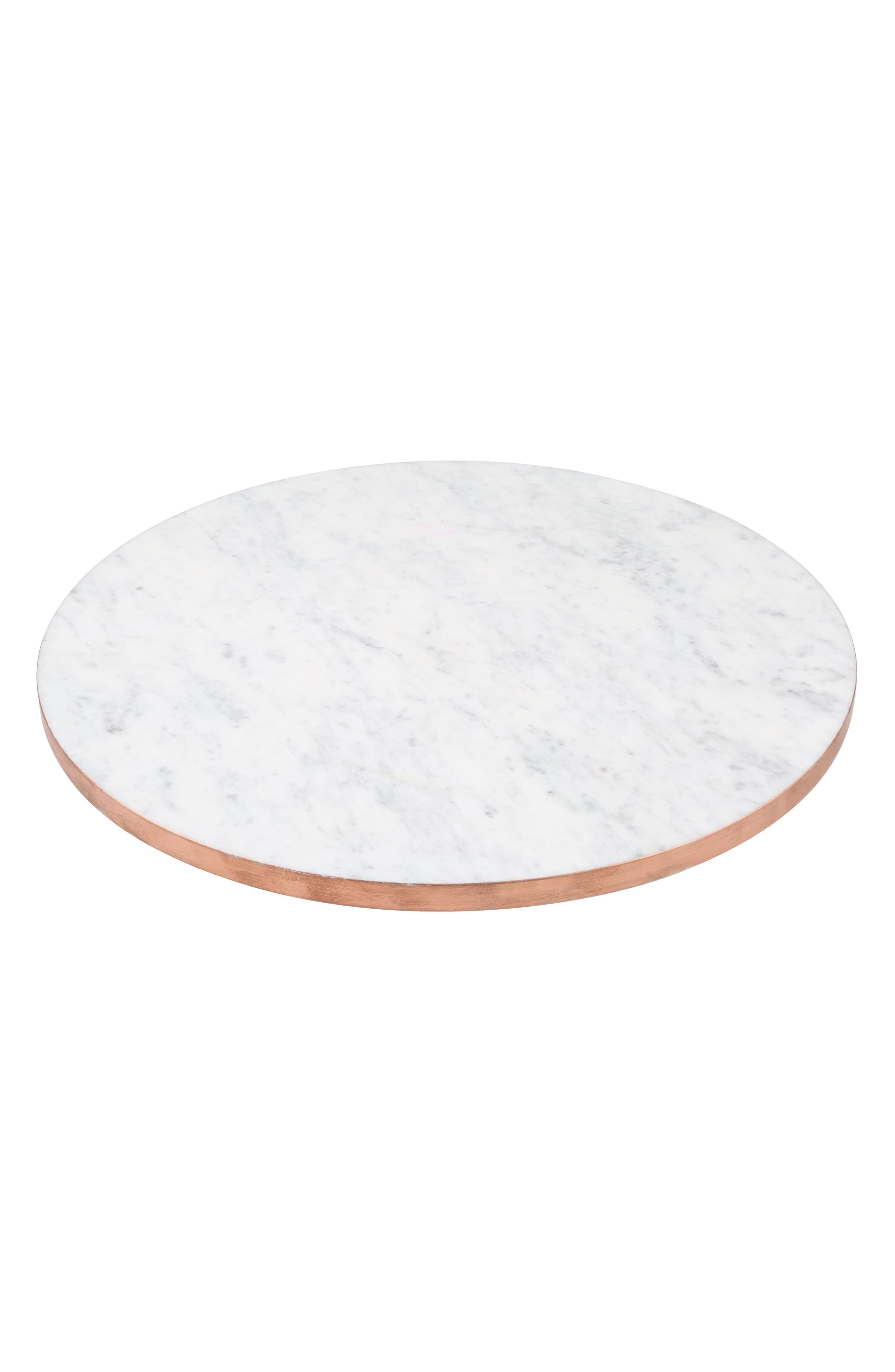main image copper edge marble lazy susan