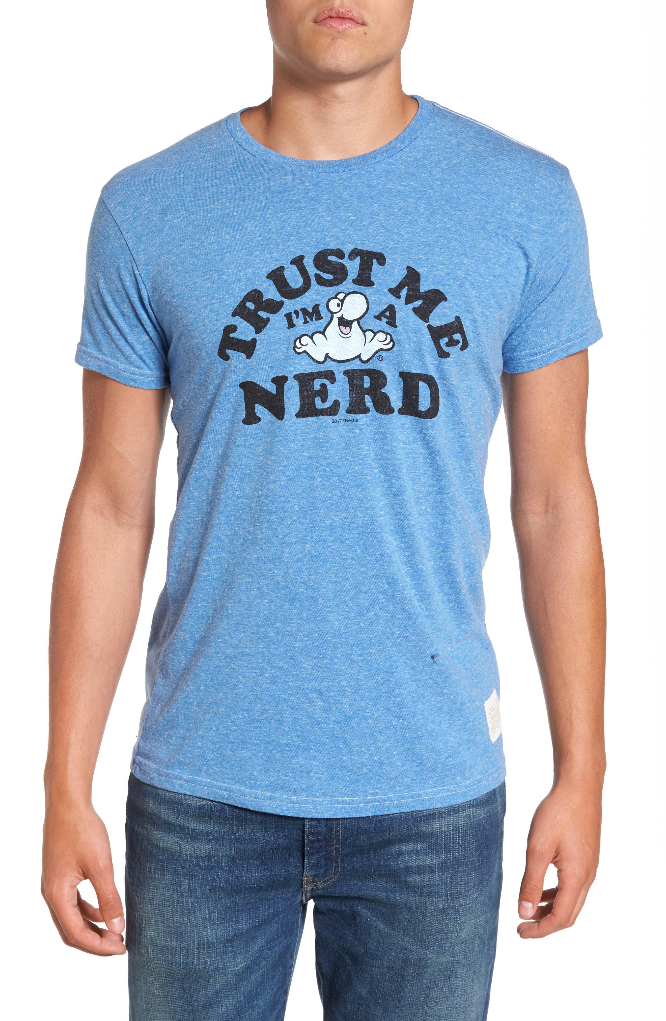 Retro Brand Nerds Graphic T-Shirt