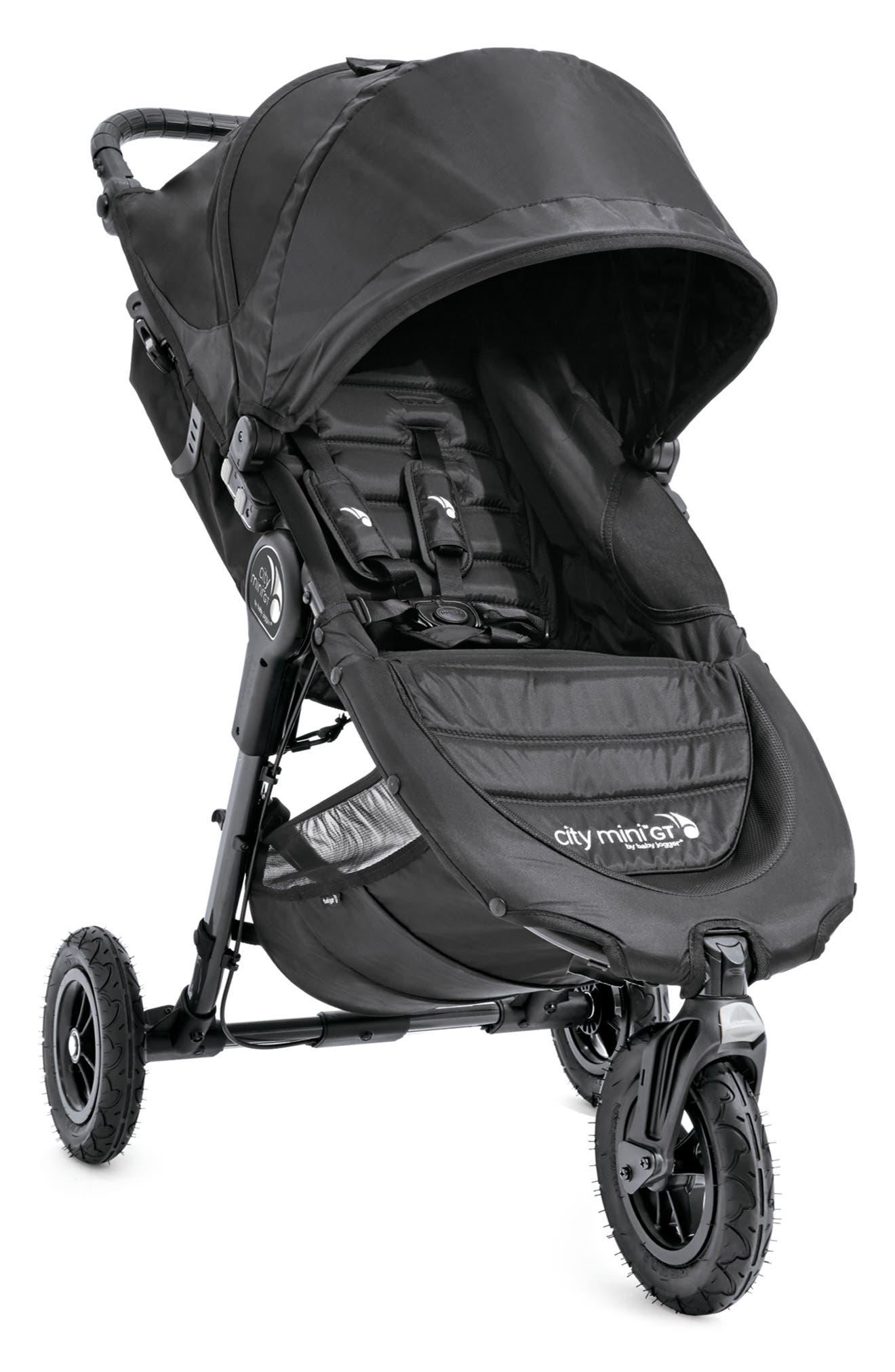 City Mini GT<sup>®</sup> Single Stroller & Parent Console Attachment,                         Main,                         color, Black