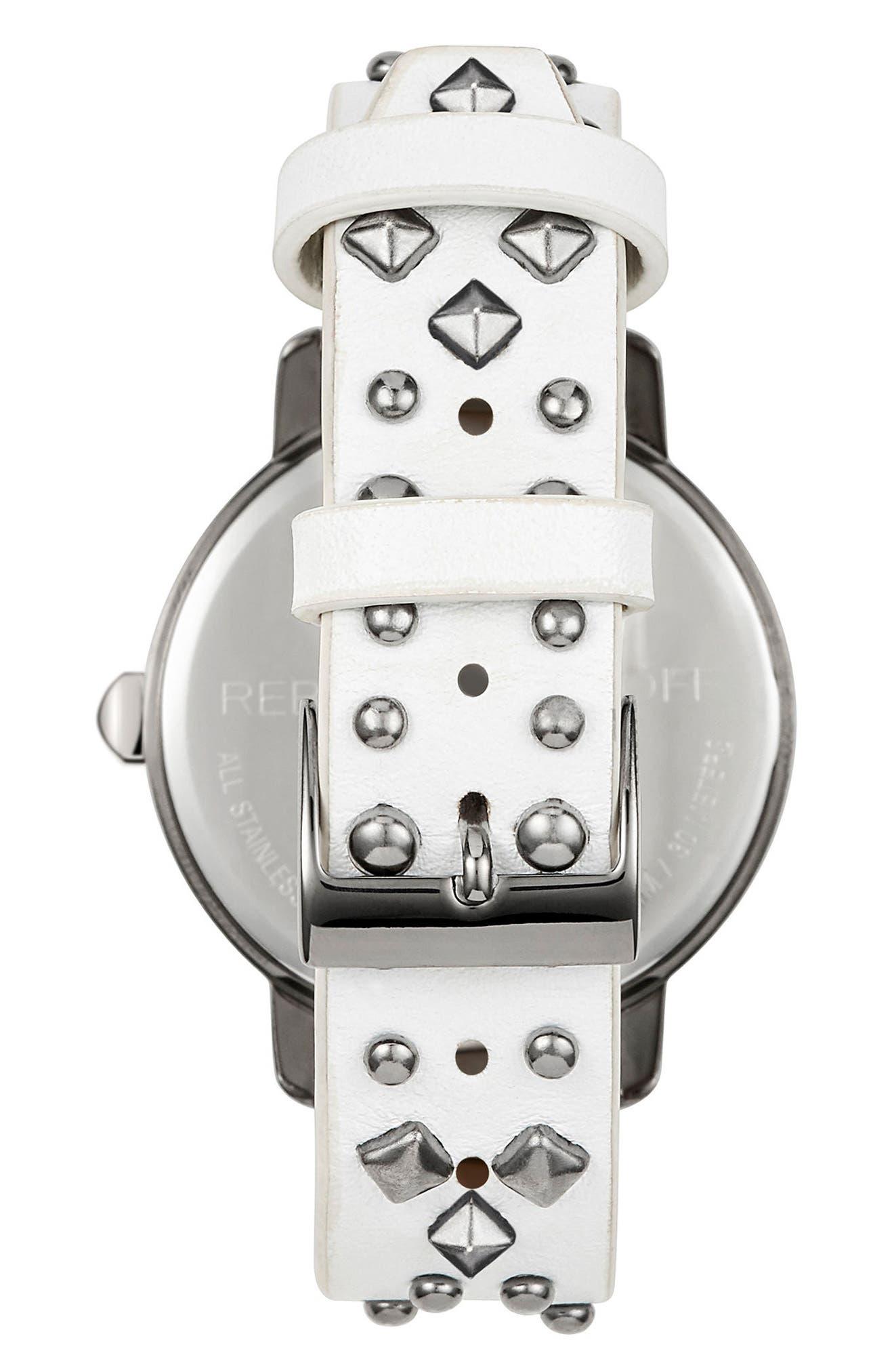 Alternate Image 2  - Rebecca Minkoff BFFL Studded Leather Strap Watch, 36mm