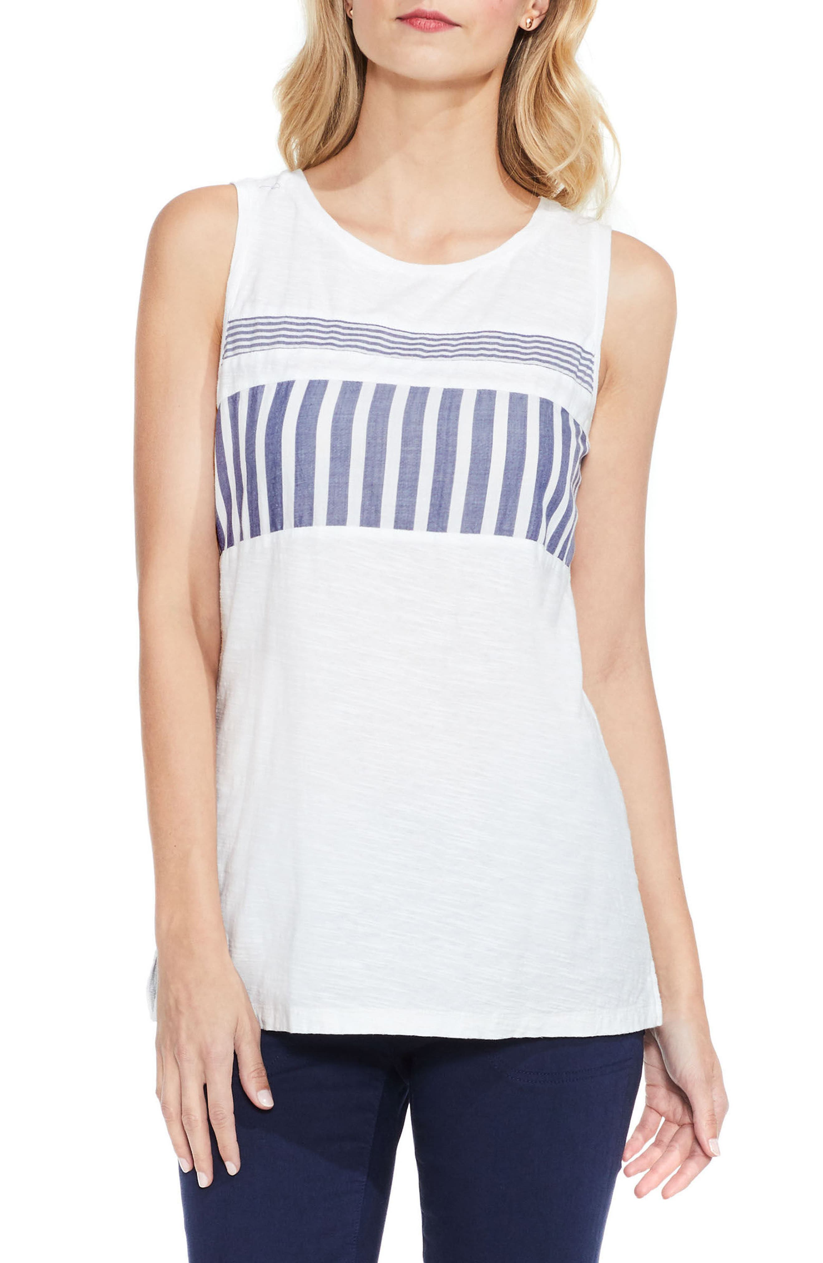 Two by Vince Camuto Mix Stripe Tank