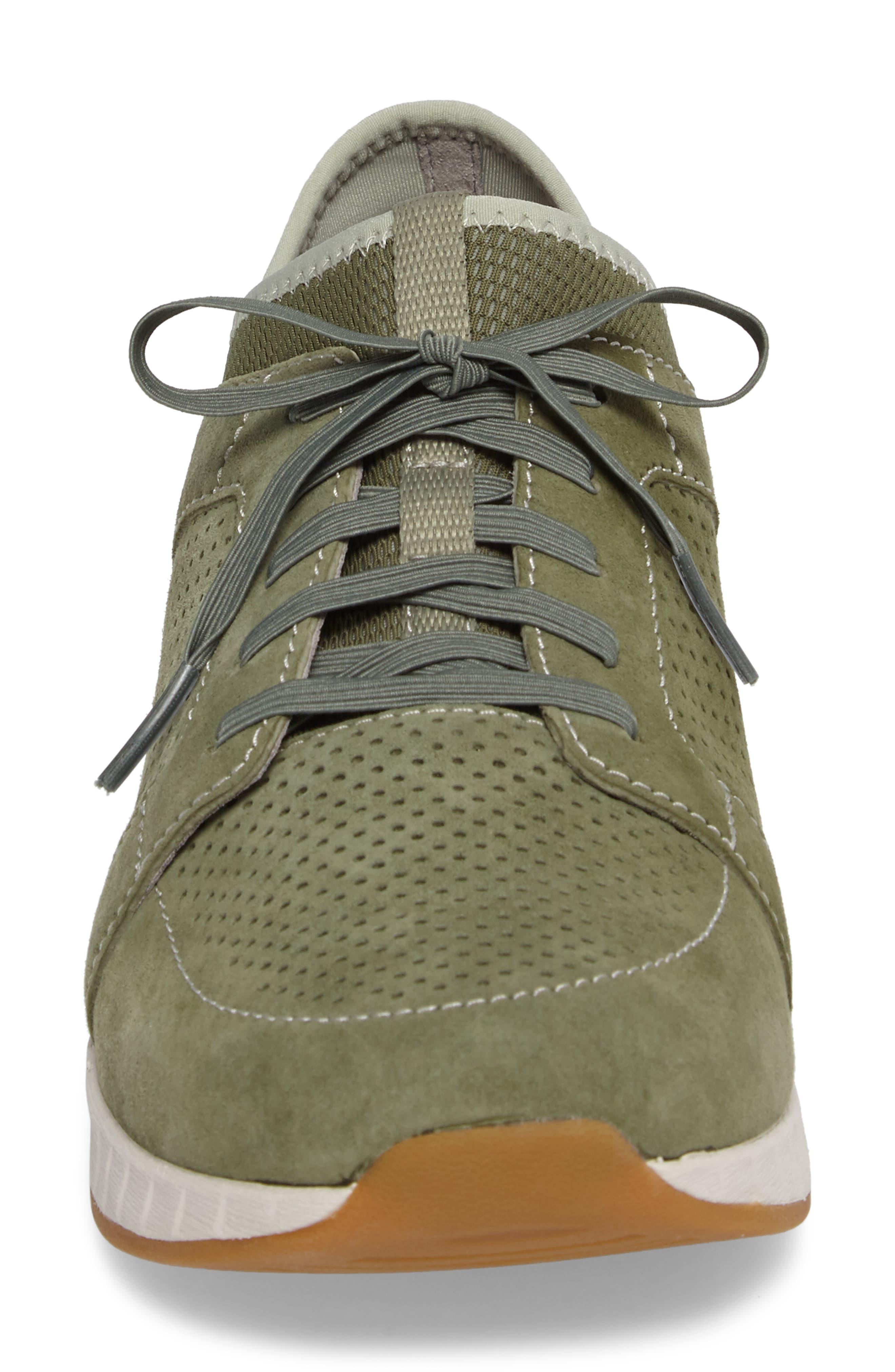 Cozette Slip-On Sneaker,                             Alternate thumbnail 4, color,                             Sage Suede