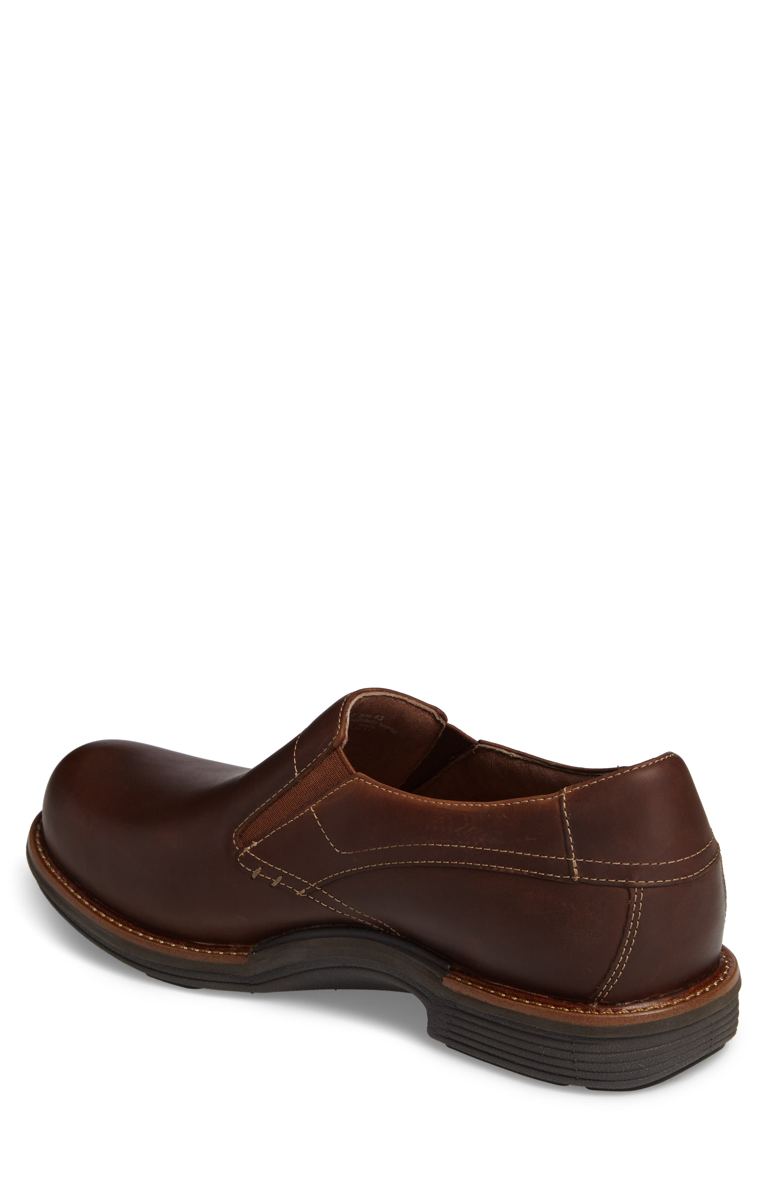 'Jackson' Leather Slip-On,                             Alternate thumbnail 2, color,                             Brown Pull-Up Leather