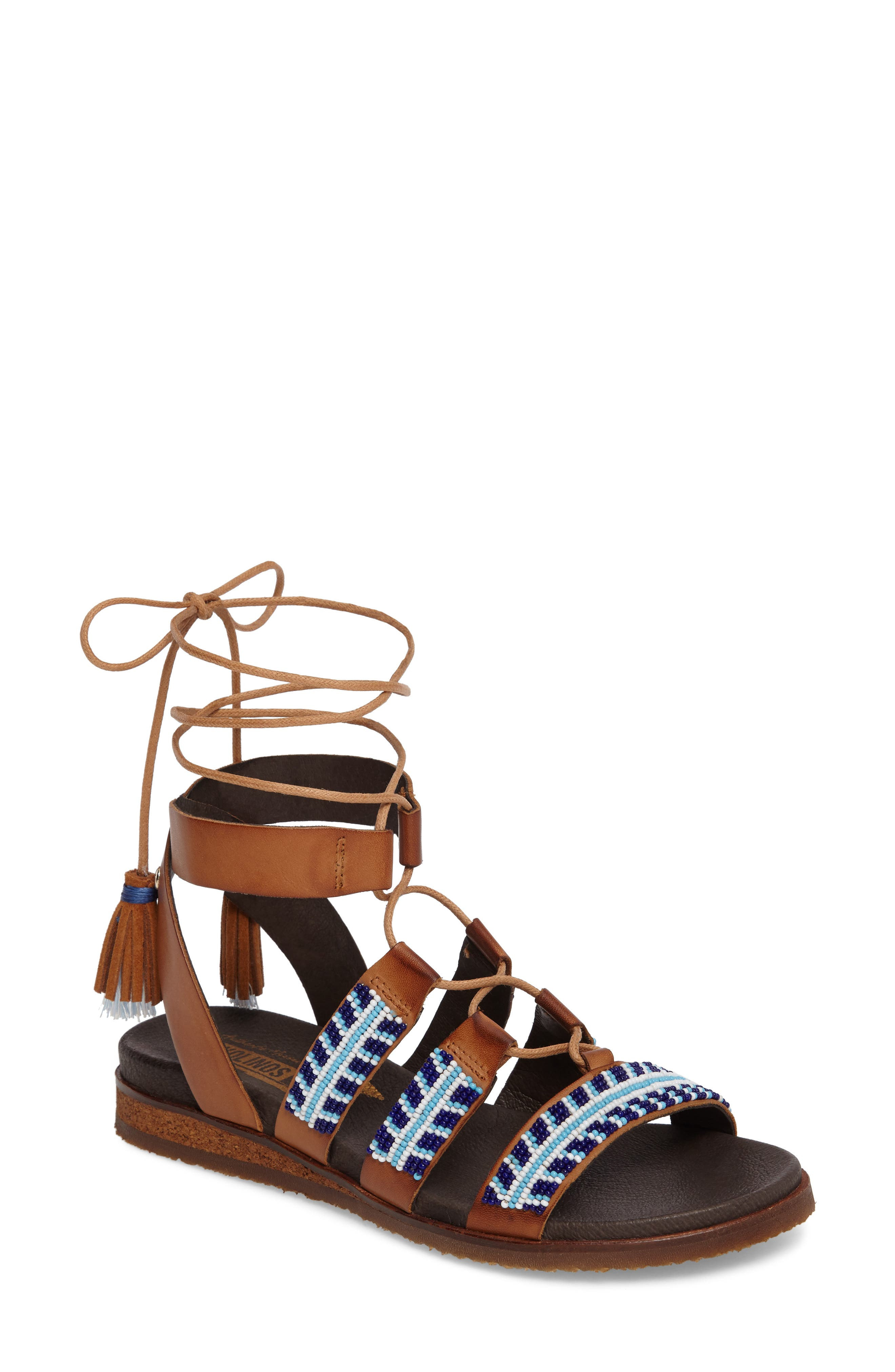 Alternate Image 1 Selected - PIKOLINOS Antillas Beaded Ghillie Sandal (Women)