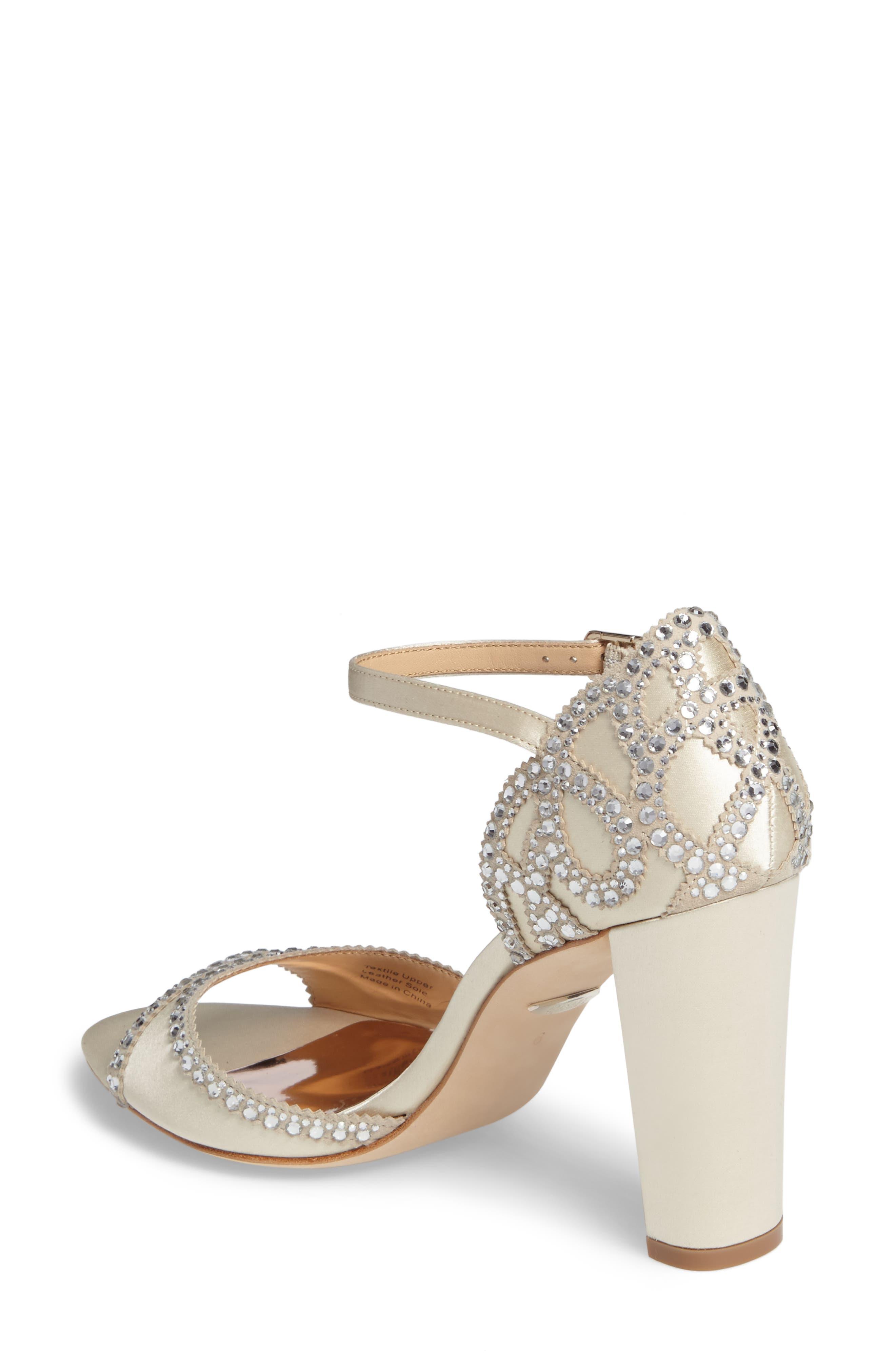 Alternate Image 2  - Badgley Mischka Kelly Embellished Crescent Heel Sandal (Women)