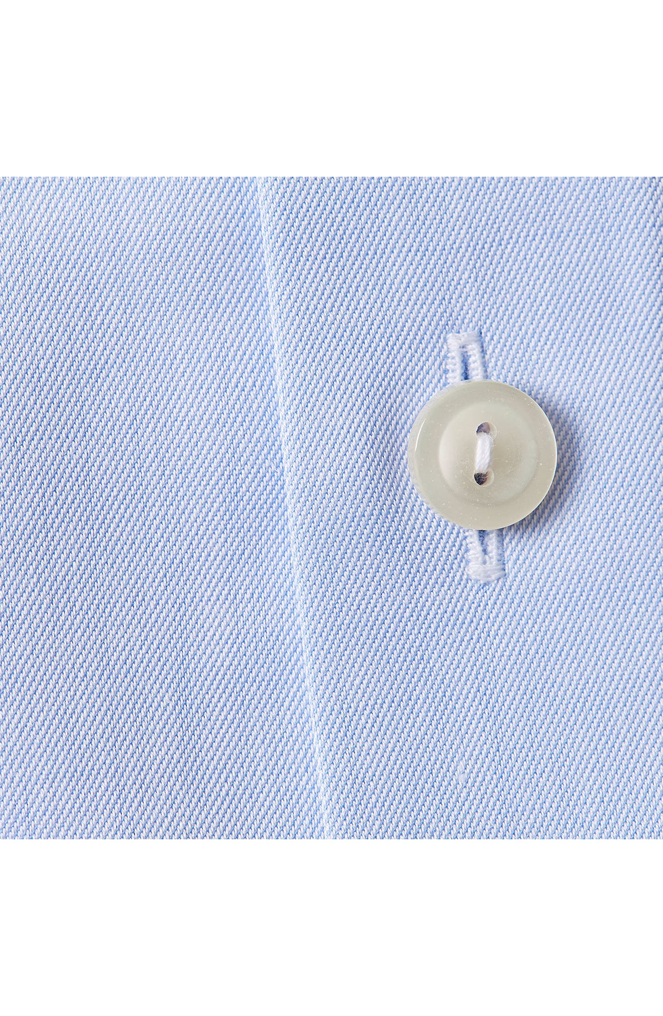 Classic Fit Twill Dress Shirt,                             Alternate thumbnail 3, color,                             Blue