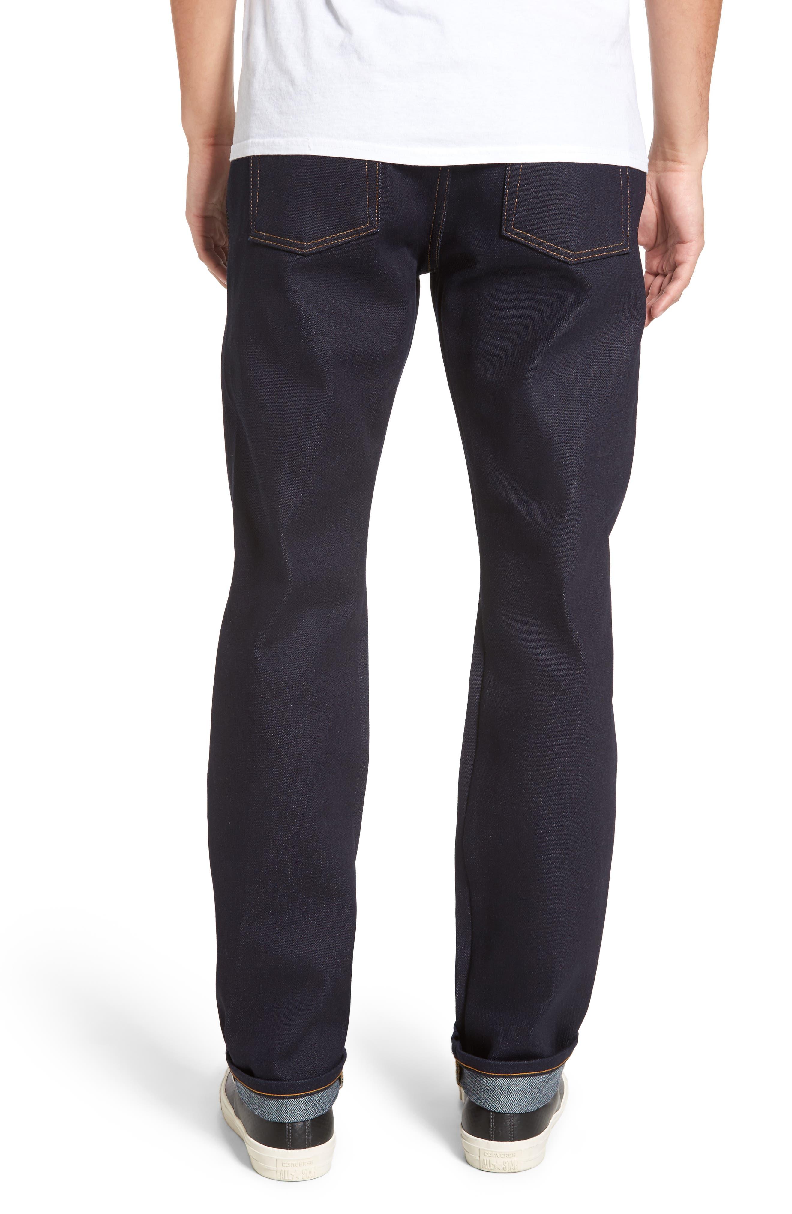 Alternate Image 2  - Naked & Famous Denim Weird Guy Slim Fit Jeans (Elephant 6)