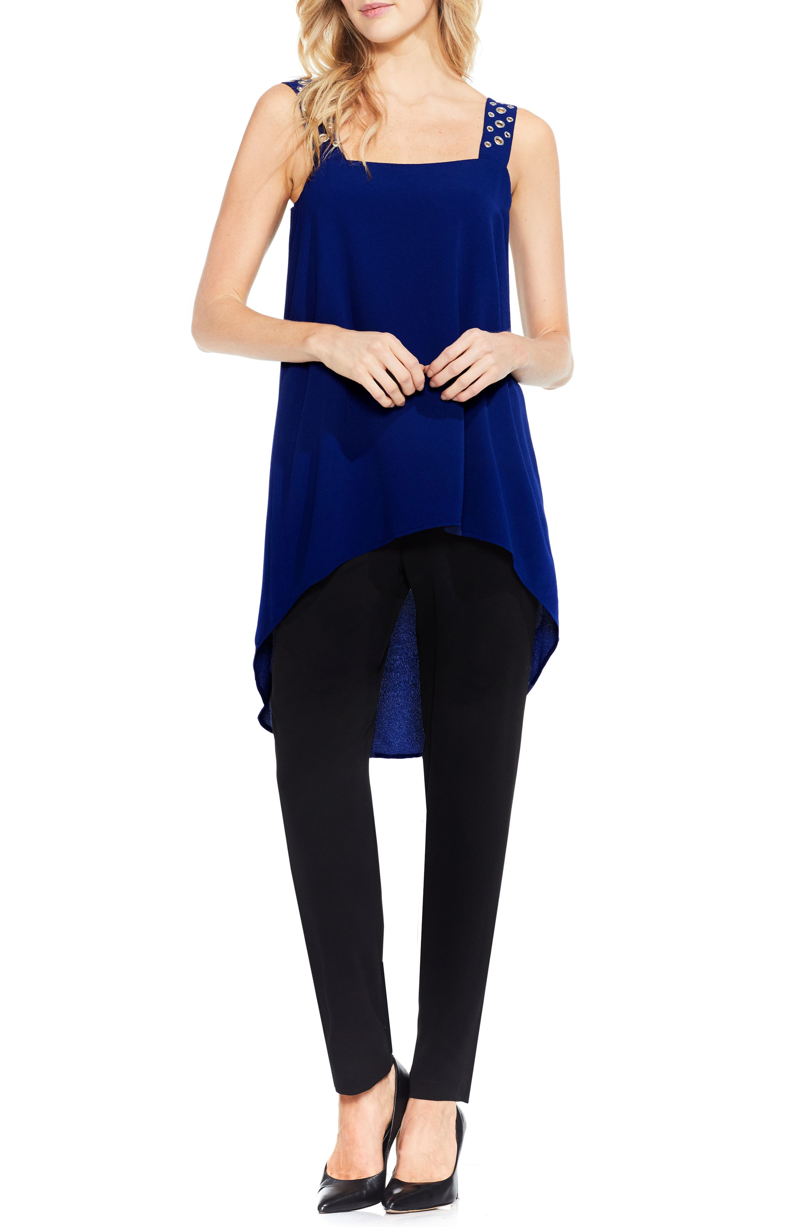 Alternate Image 2  - Vince Camuto Grommet Strap High/Low Tunic