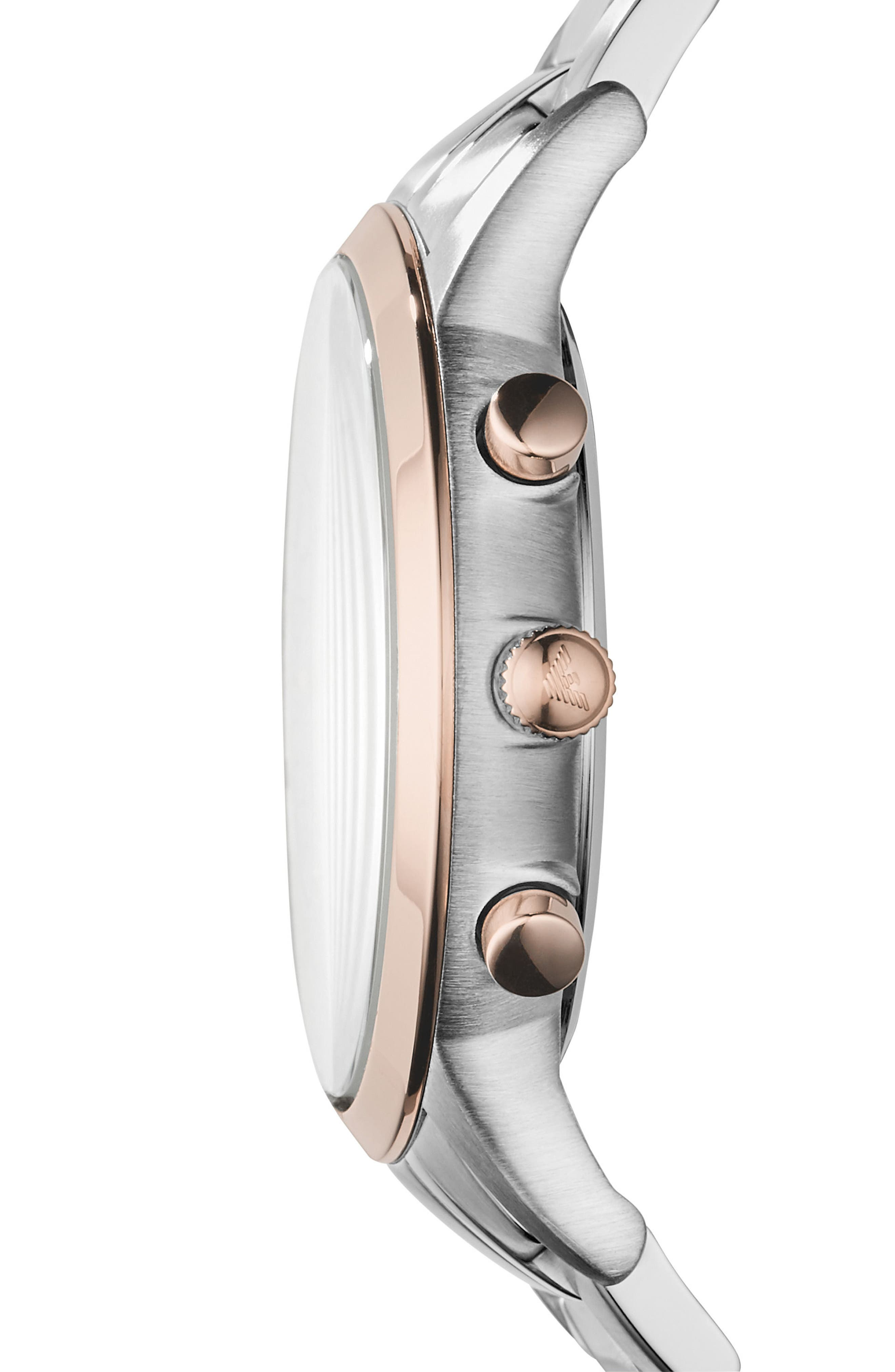Two-Tone Chronograph Bracelet Watch, 43mm,                             Alternate thumbnail 2, color,                             Rose Gold/ Silver