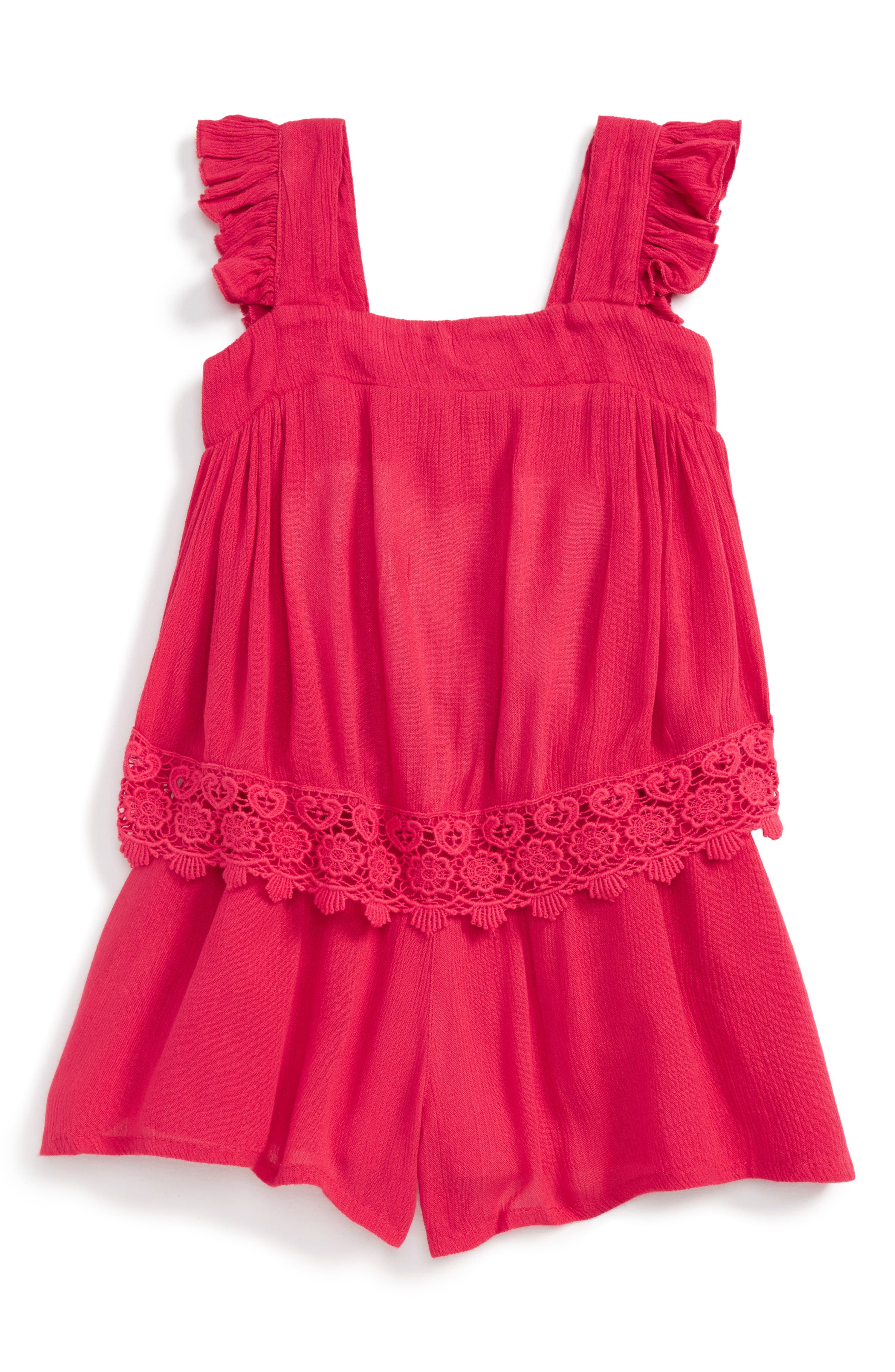 Peek Sasha Romper (Toddler Girls, Little Girls & Big Girls)