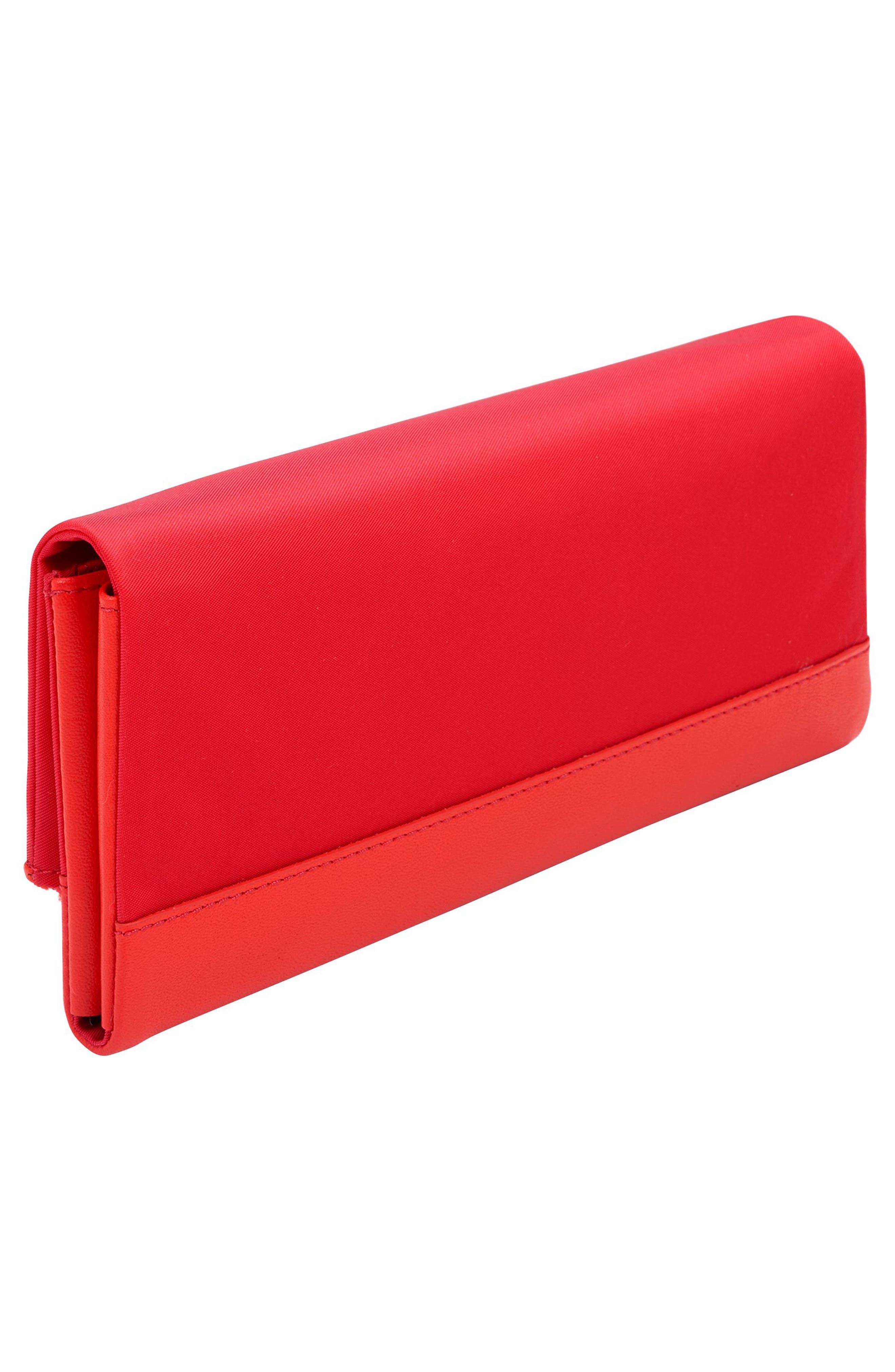 Continental Flap Tech Wallet,                             Alternate thumbnail 3, color,                             Hot Pink