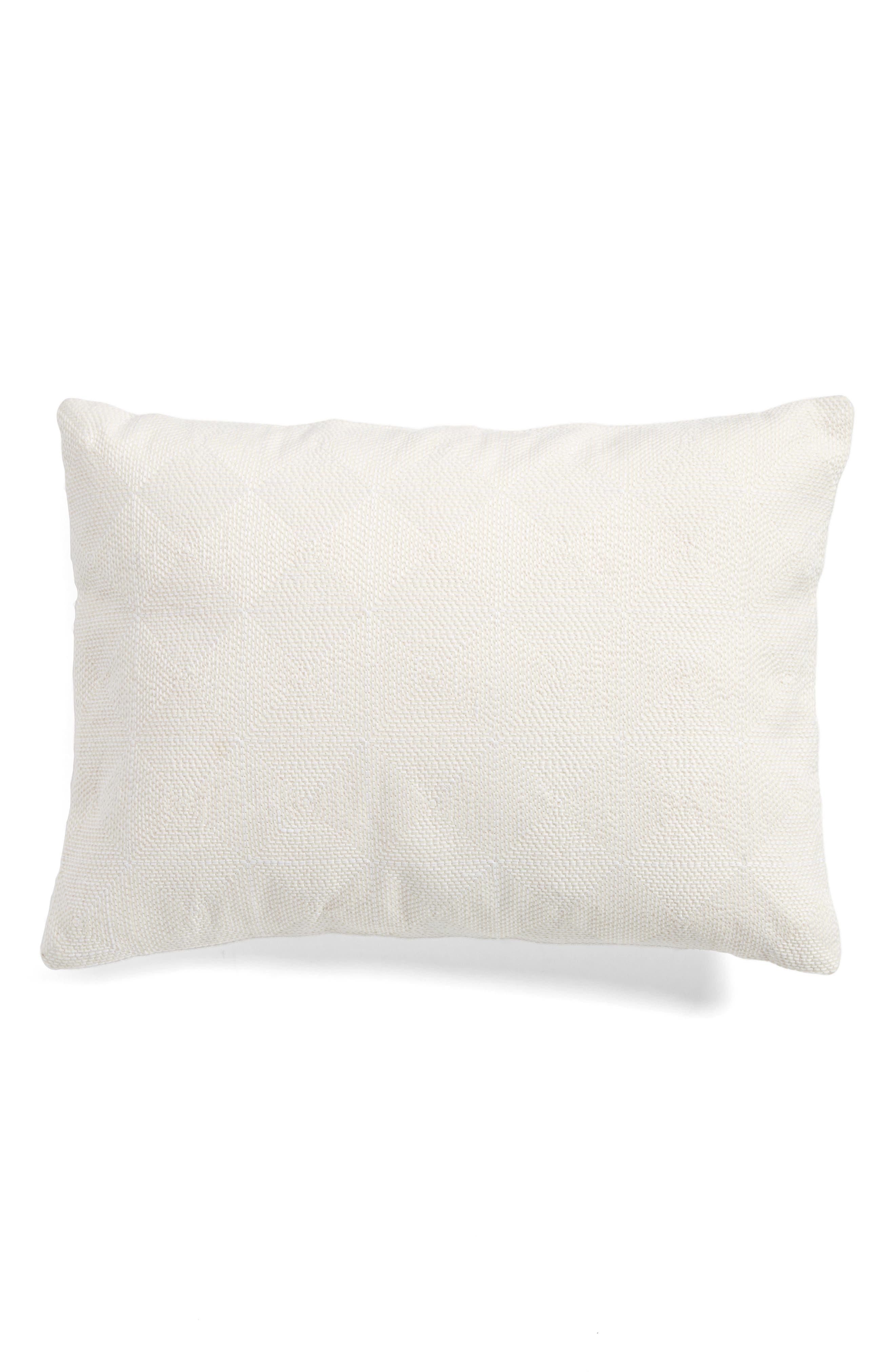 Fretwork Breakfast Pillow,                         Main,                         color, Cream