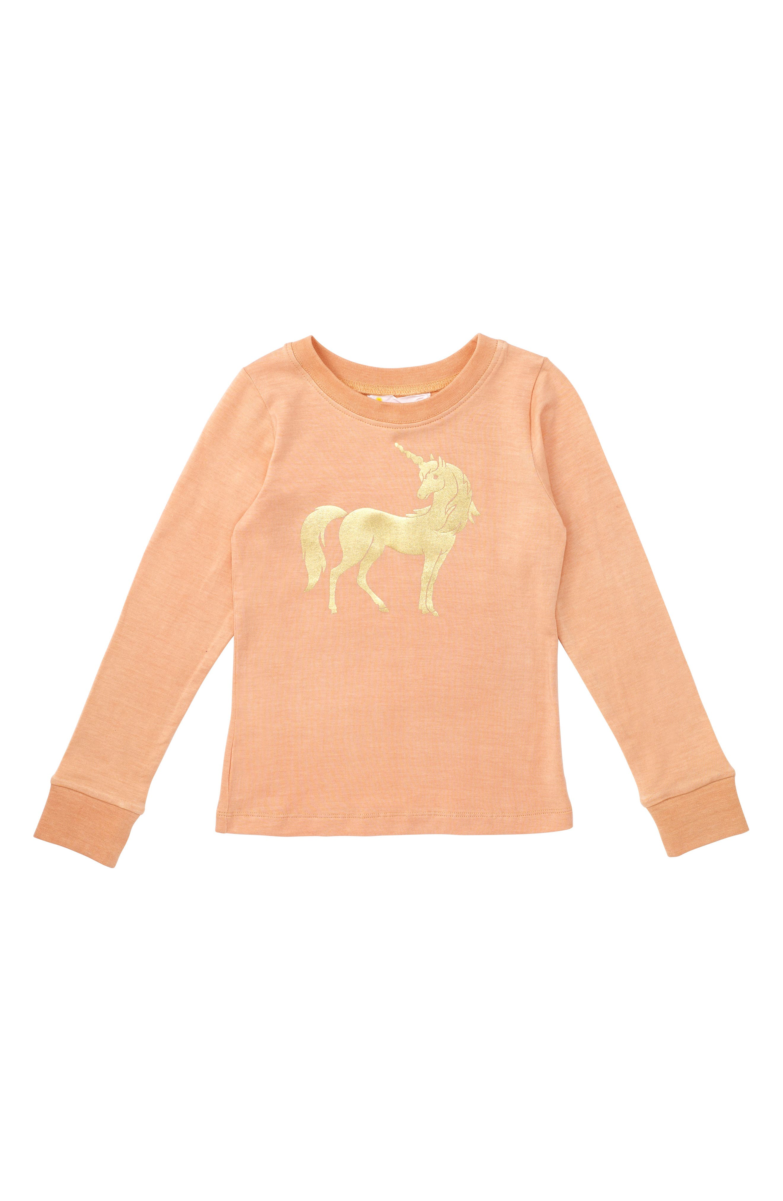 Unicorn Graphic Tee,                         Main,                         color, Peach