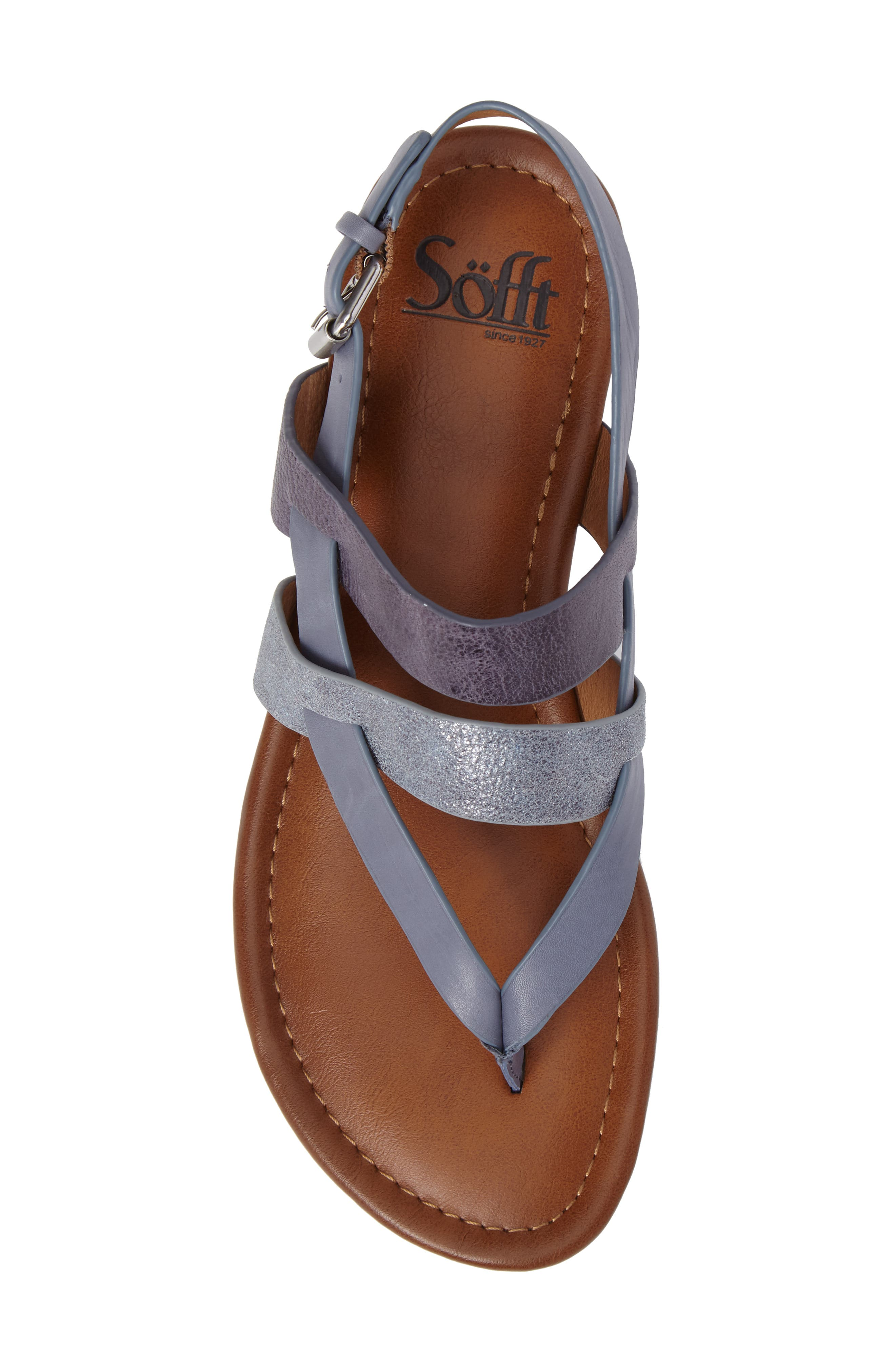 Bena Strappy Sandal,                             Alternate thumbnail 5, color,                             Denim/ Blue/ Pale Blue Leather