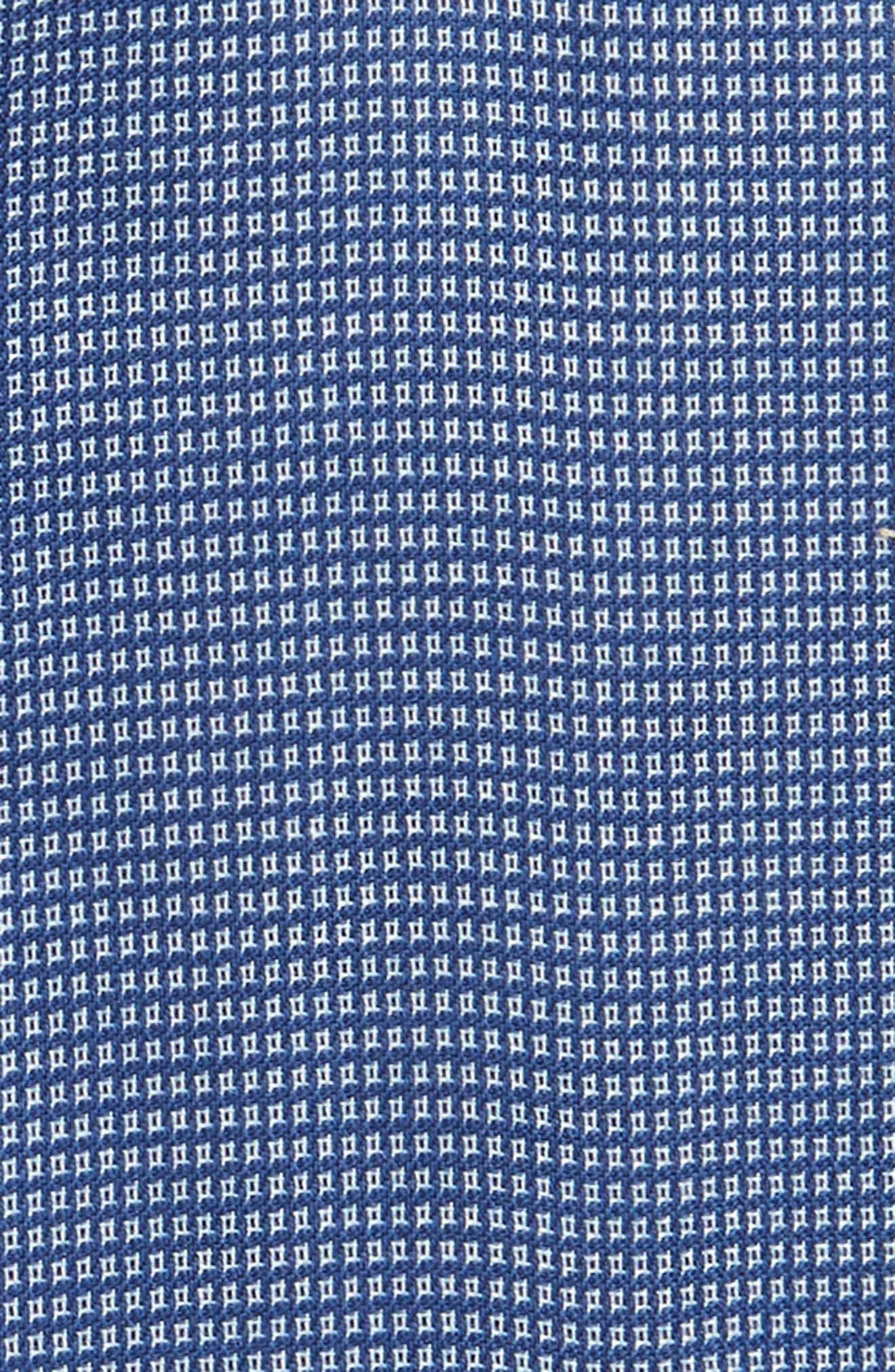 Smartcare<sup>™</sup> Trim Fit Check Dress Shirt,                             Alternate thumbnail 4, color,                             Blue Canal