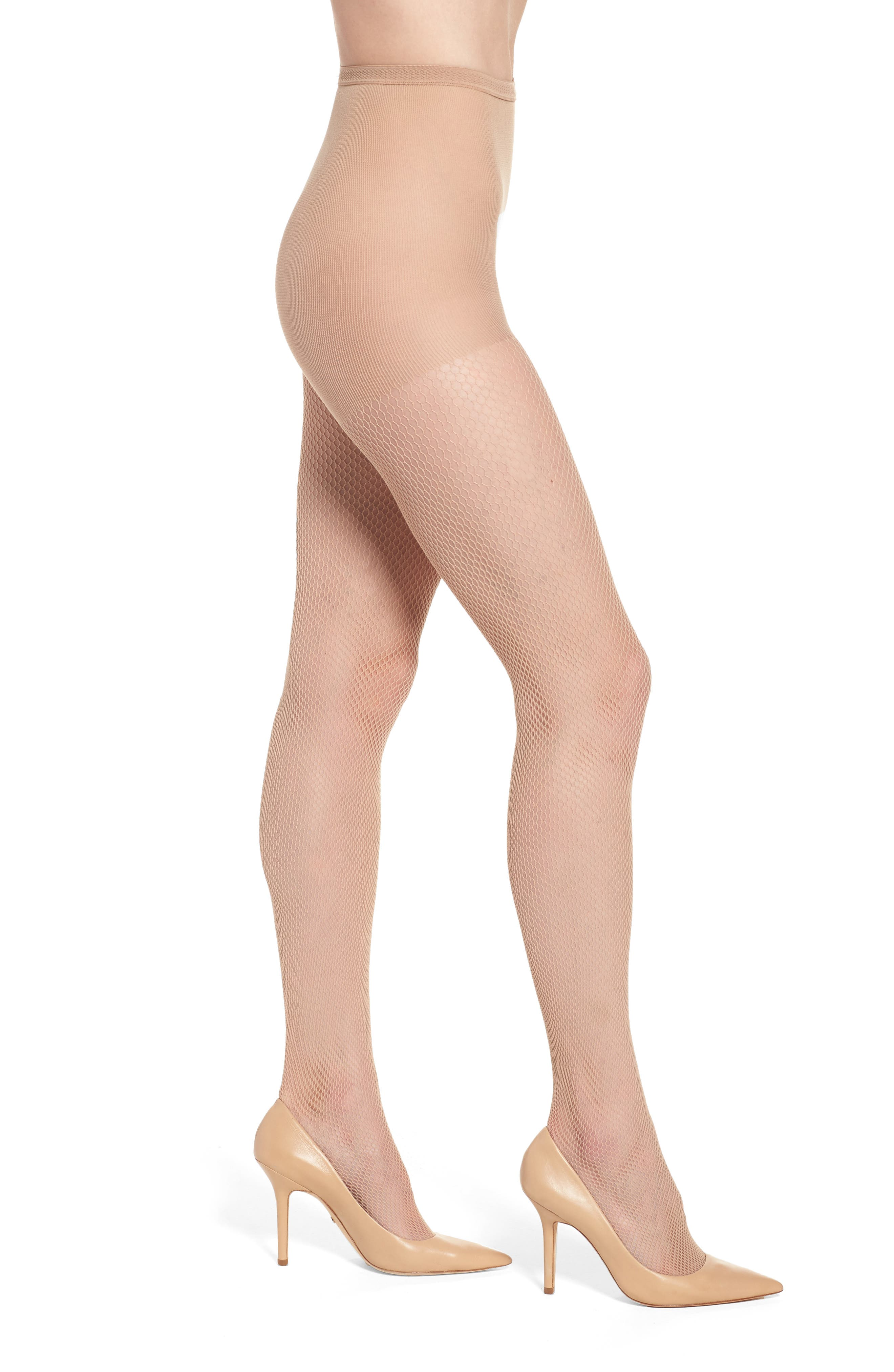 Luxe Fishnet Tights,                         Main,                         color, Nude