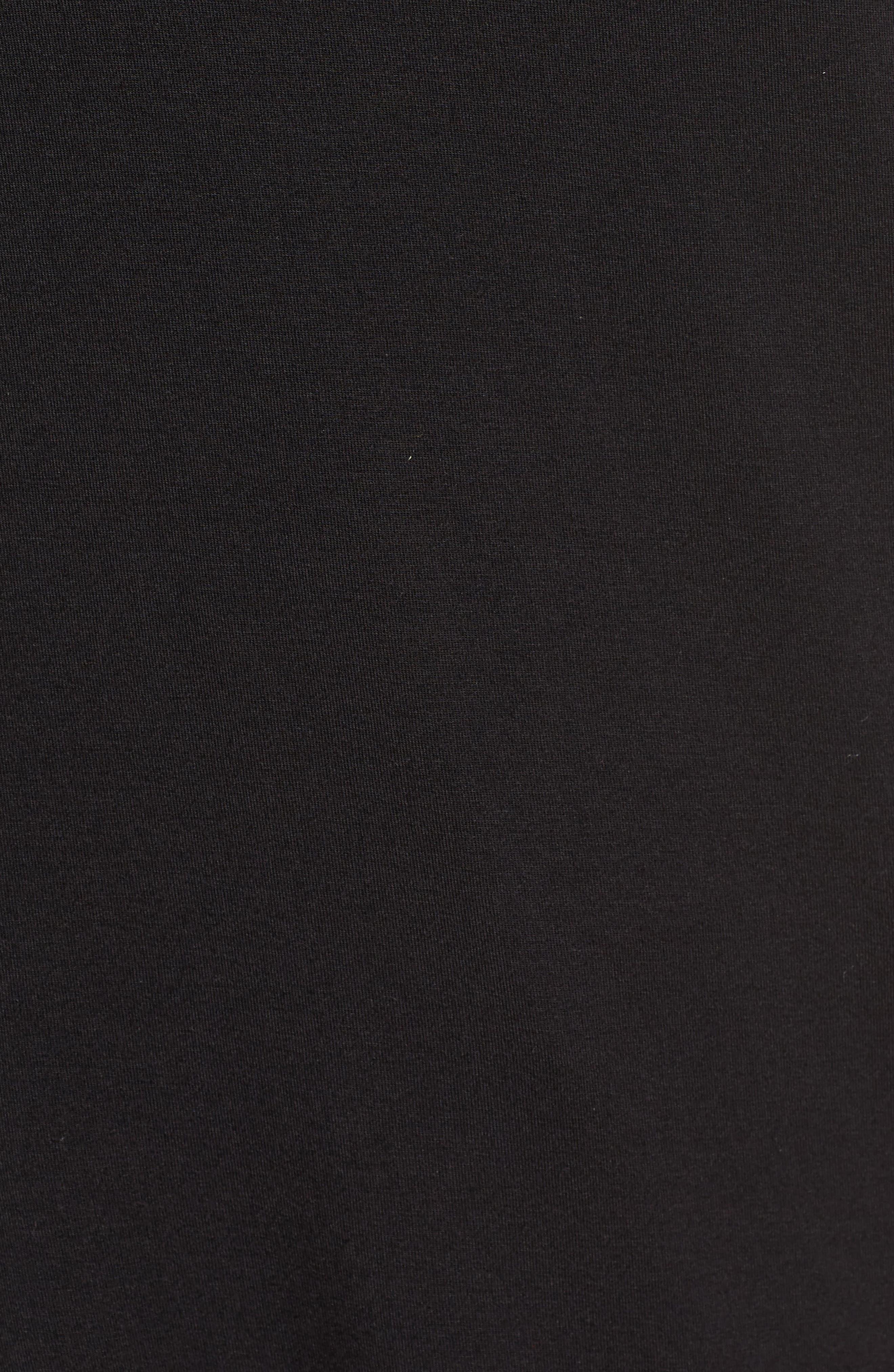 V-Neck Tunic Tee,                             Alternate thumbnail 5, color,                             Black