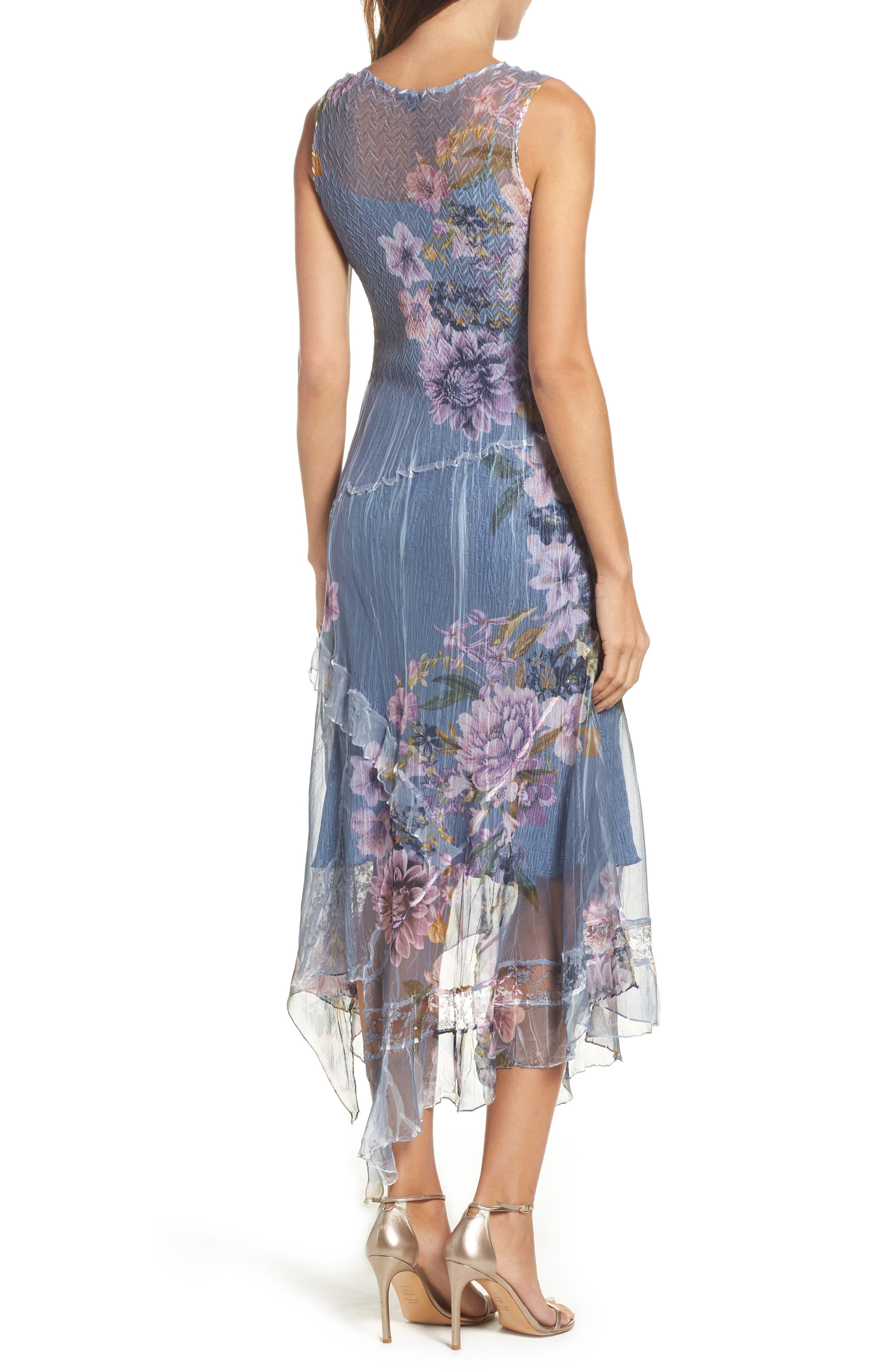 Alternate Image 2  - Komarov Chiffon & Lace A-Line Dress with Shawl (Regular & Petite)