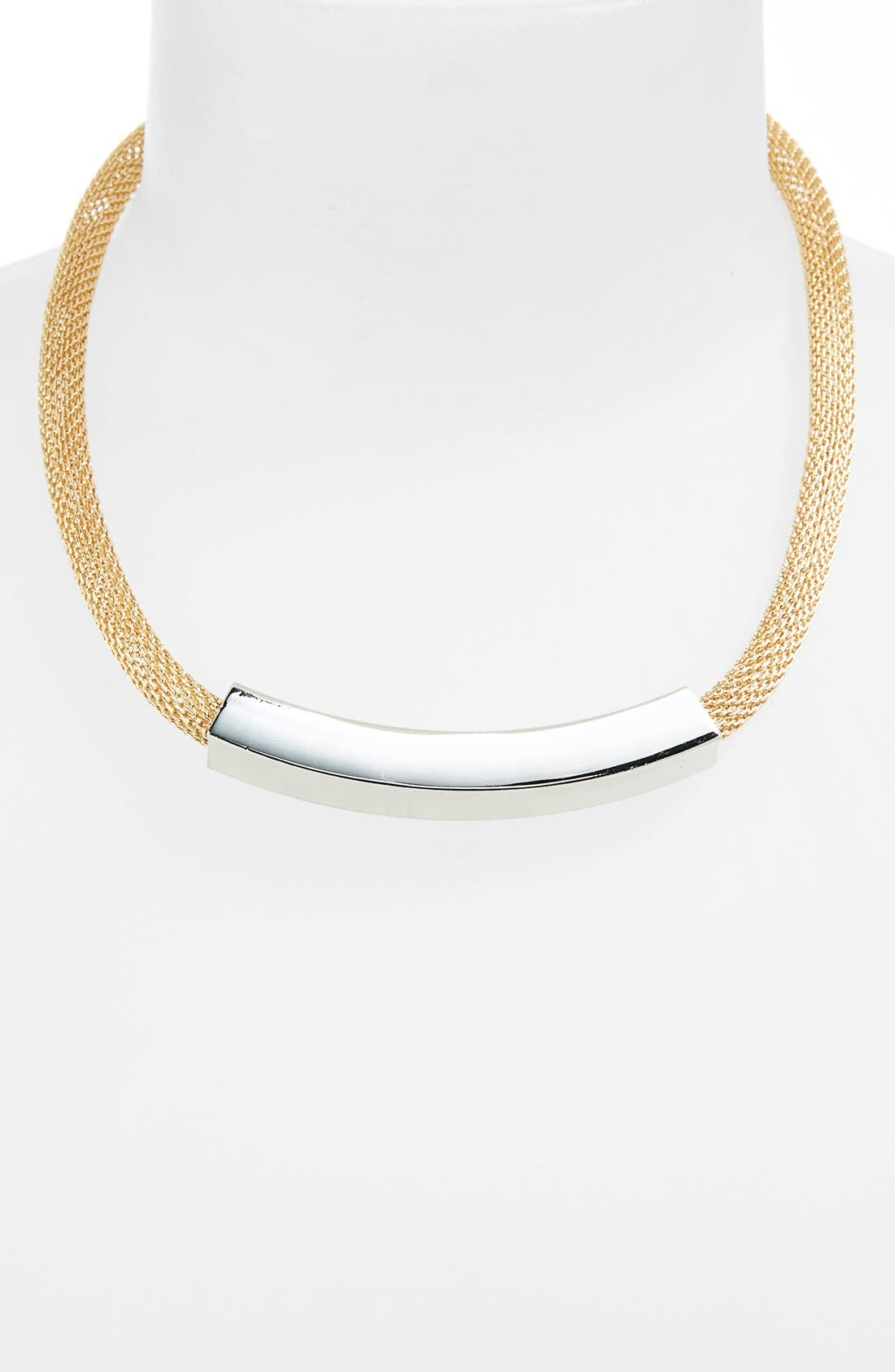 Alternate Image 2  - Topshop Mesh Chain Tube Choker