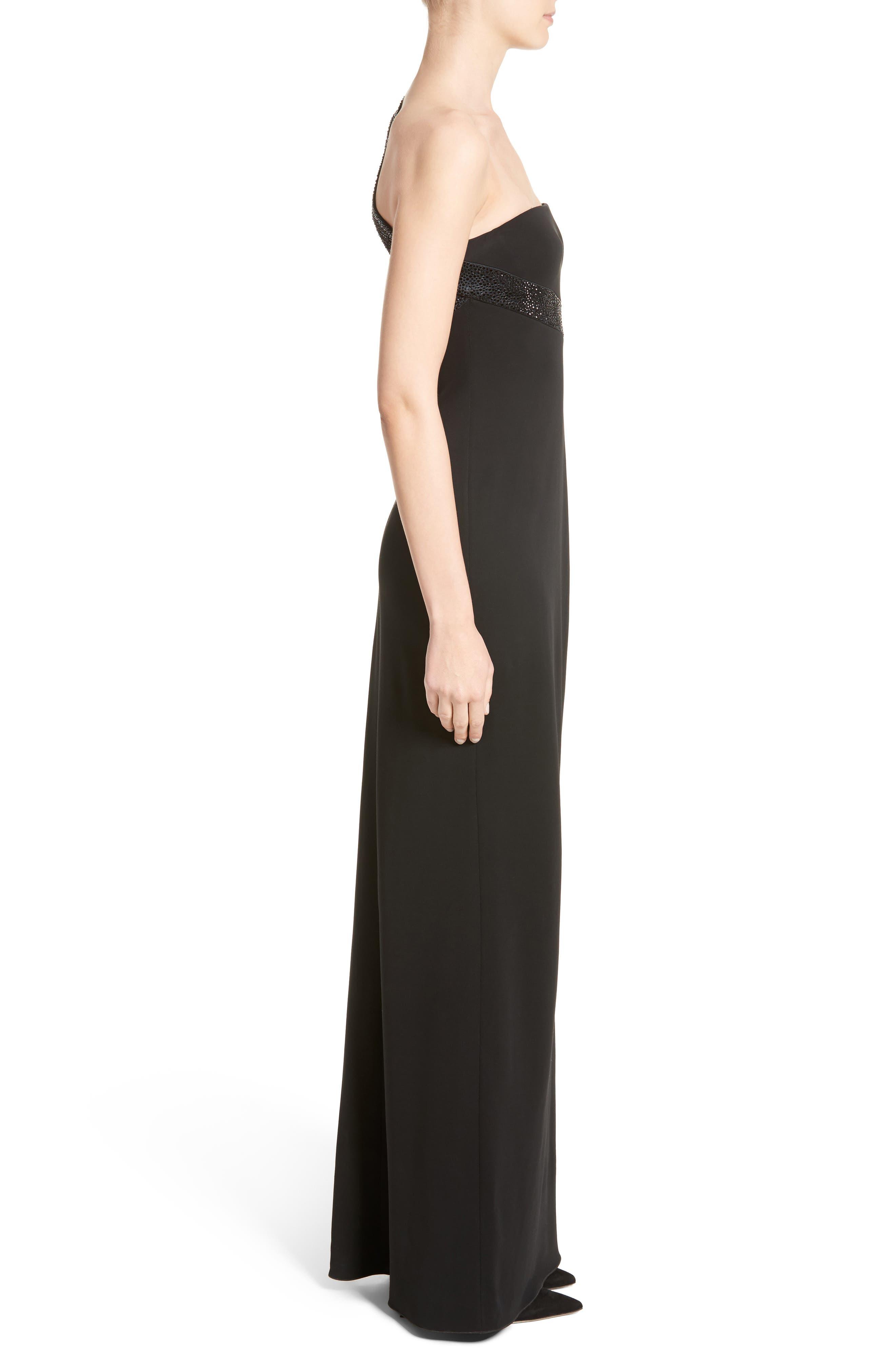 Alternate Image 3  - Armani Collezioni Crystal Trim Matte Jersey Gown