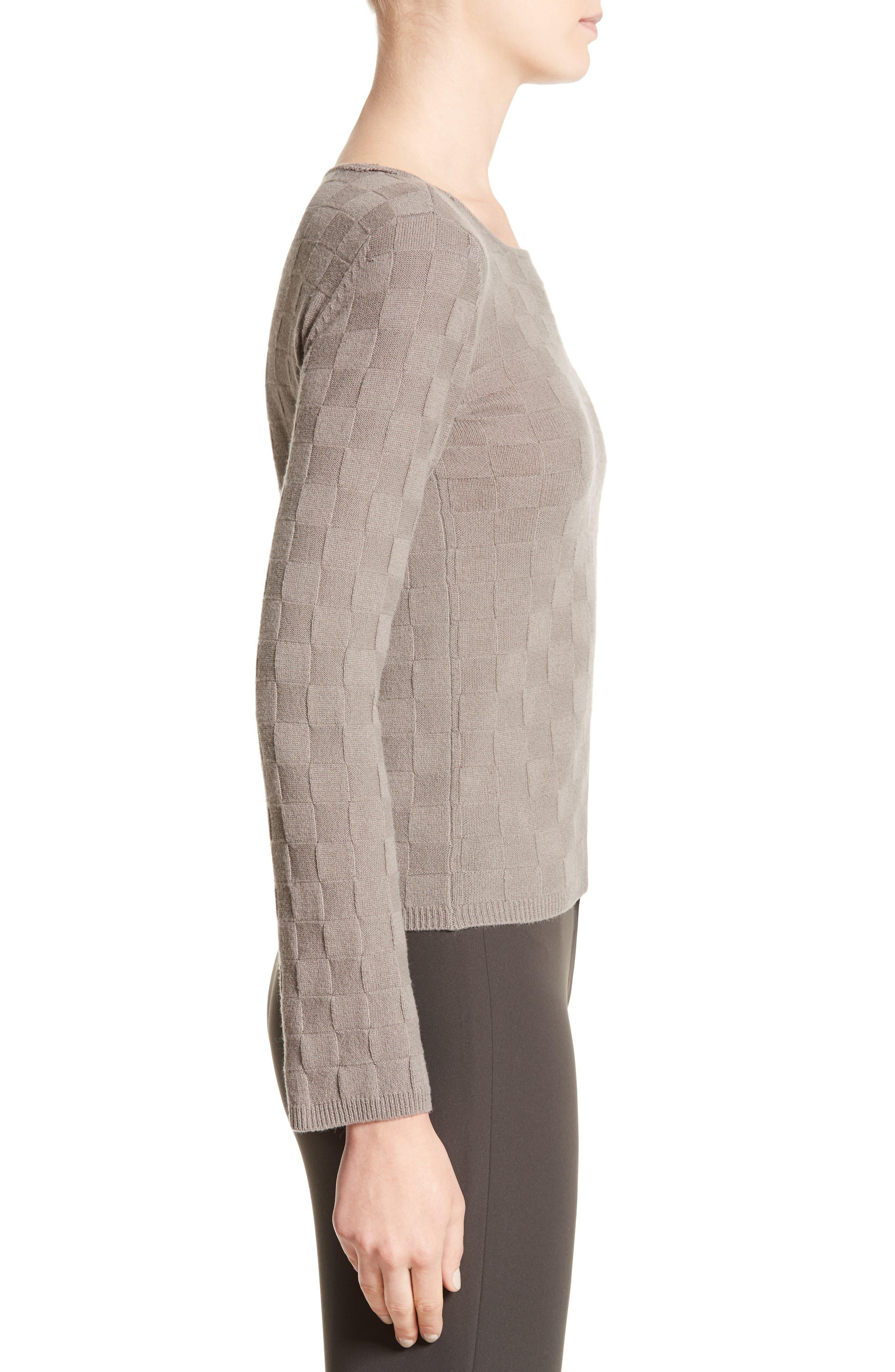 Alternate Image 5  - Armani Collezioni Checkerboard Cashmere Sweater